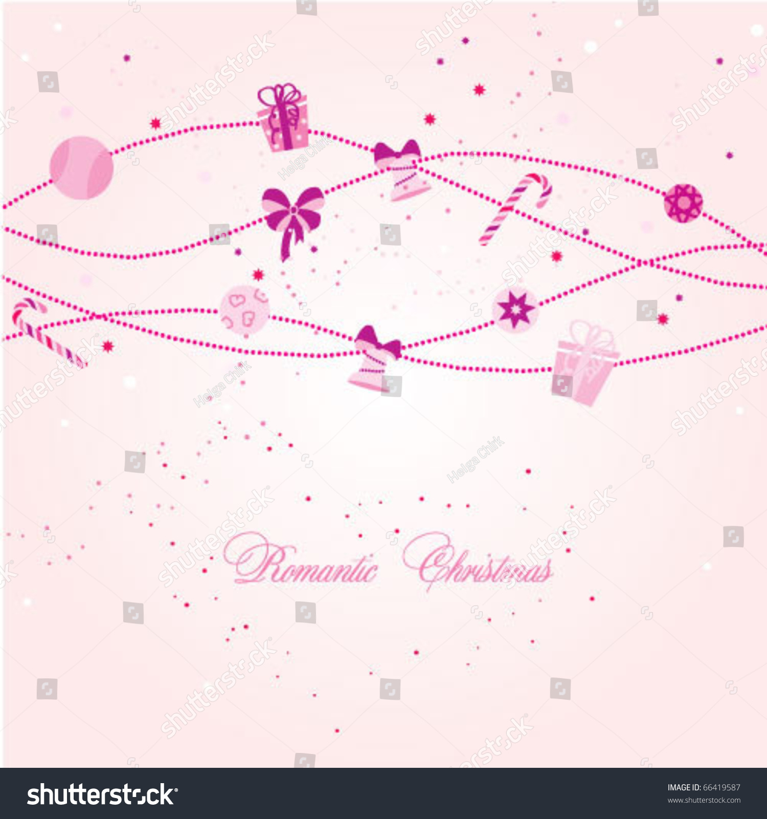Romantic Christmas Card Stock Vector (Royalty Free) 66419587 ...