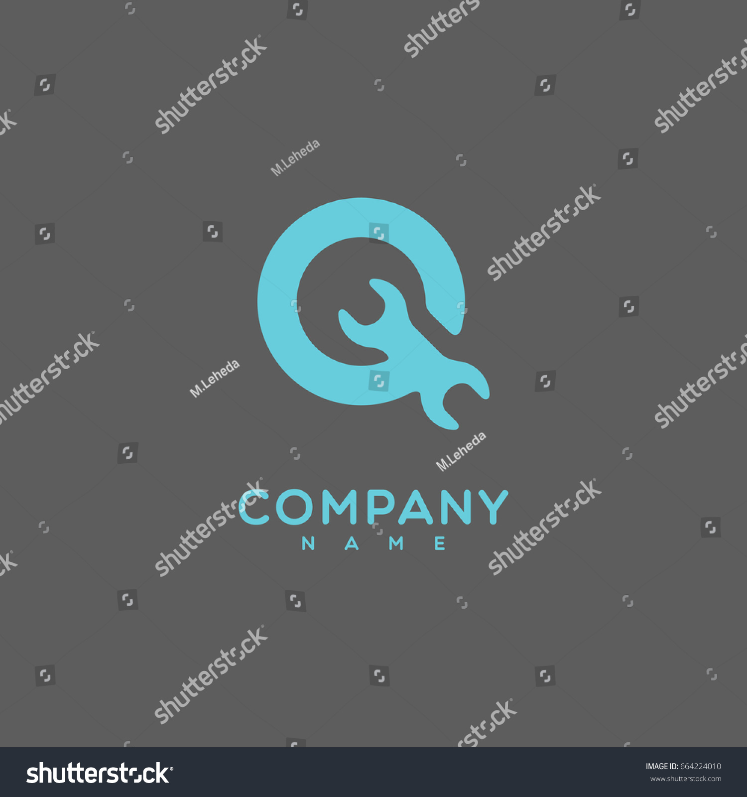 Logo Template Design Stylize Letter Q Stock Vector 664224010 ...
