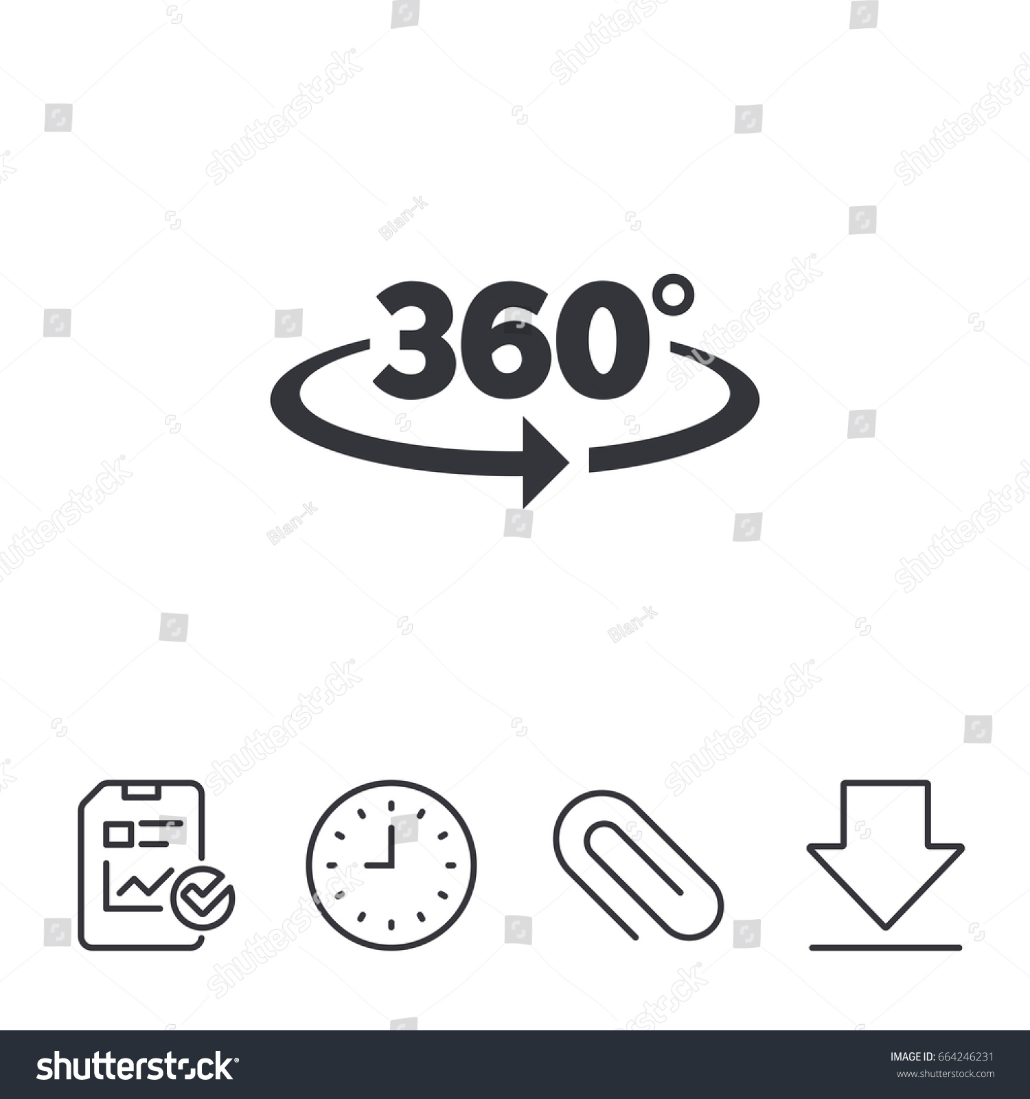 Angle 360 degrees sign icon geometry stock vector 664246231 geometry math symbol full rotation report time biocorpaavc Images