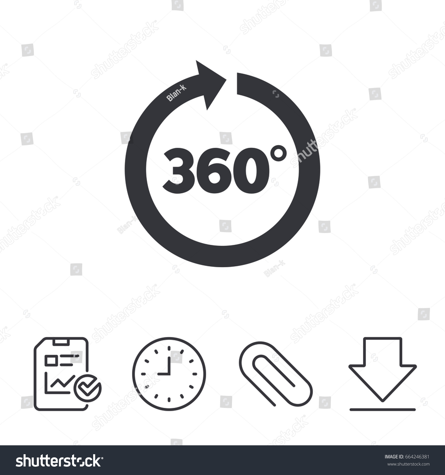 Angle 360 Degrees Sign Icon Geometry Stock Vector Royalty Free