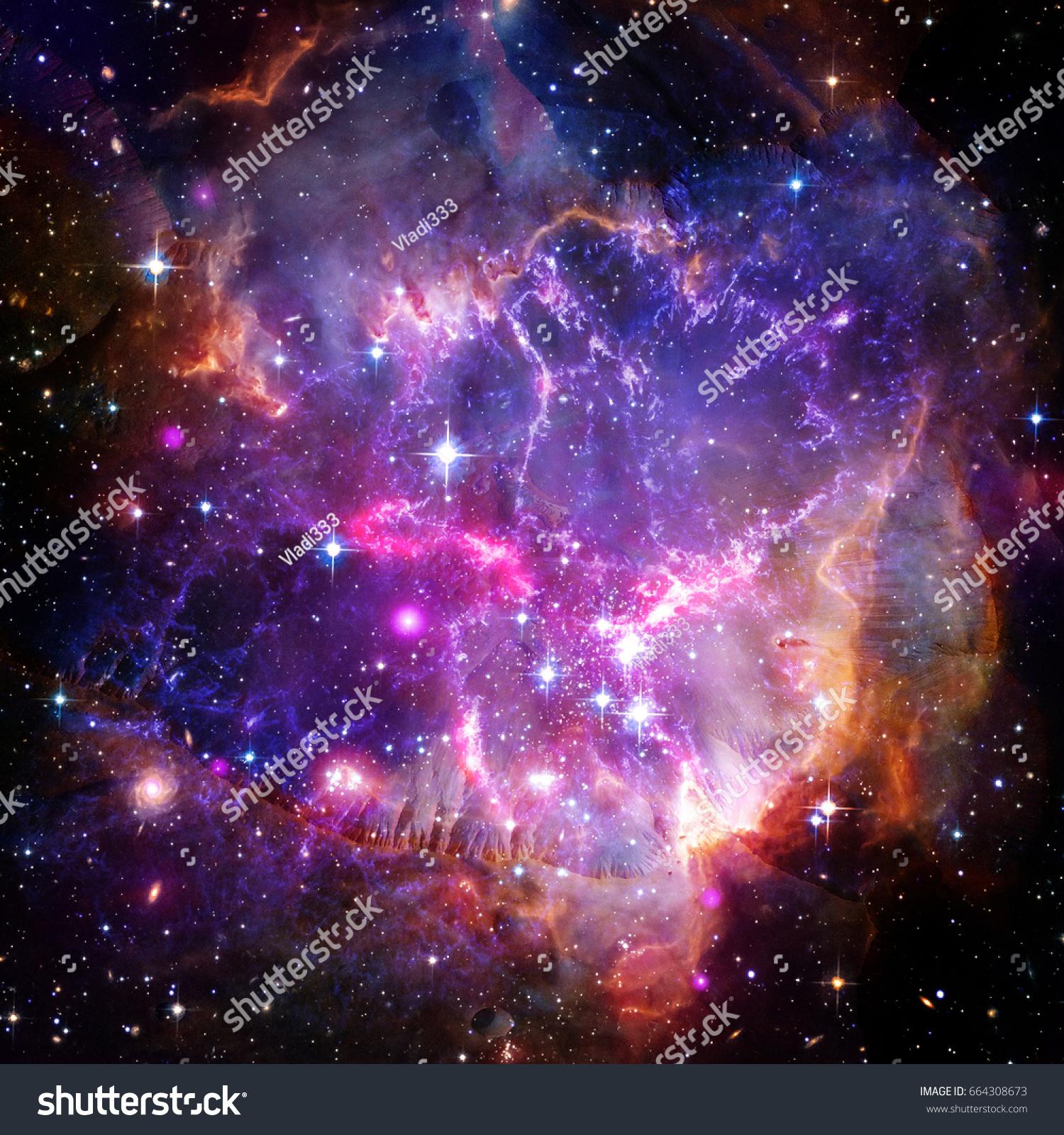Beautiful Universe Scene Planets Stars Galaxies Stock ...