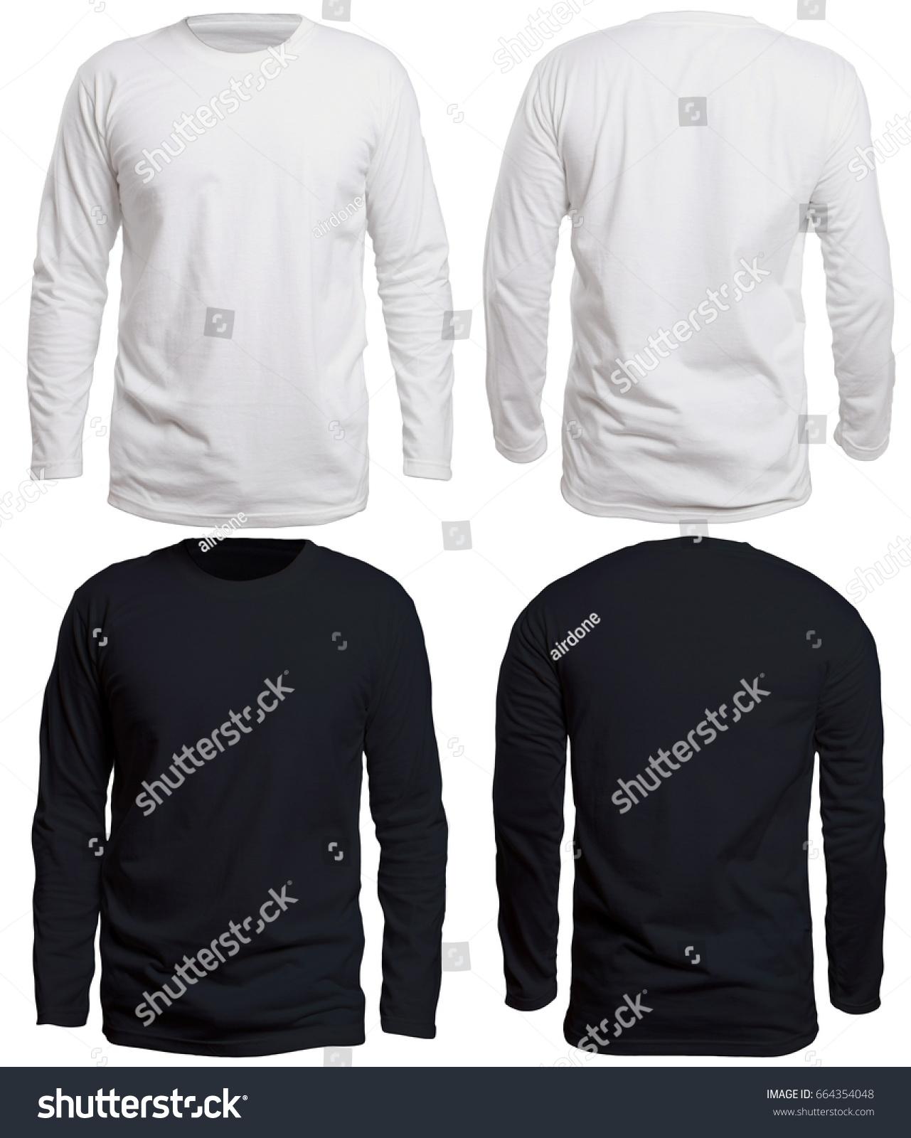 Blank Long Sleve Shirt Mock Template Stock Photo 664354048 ...