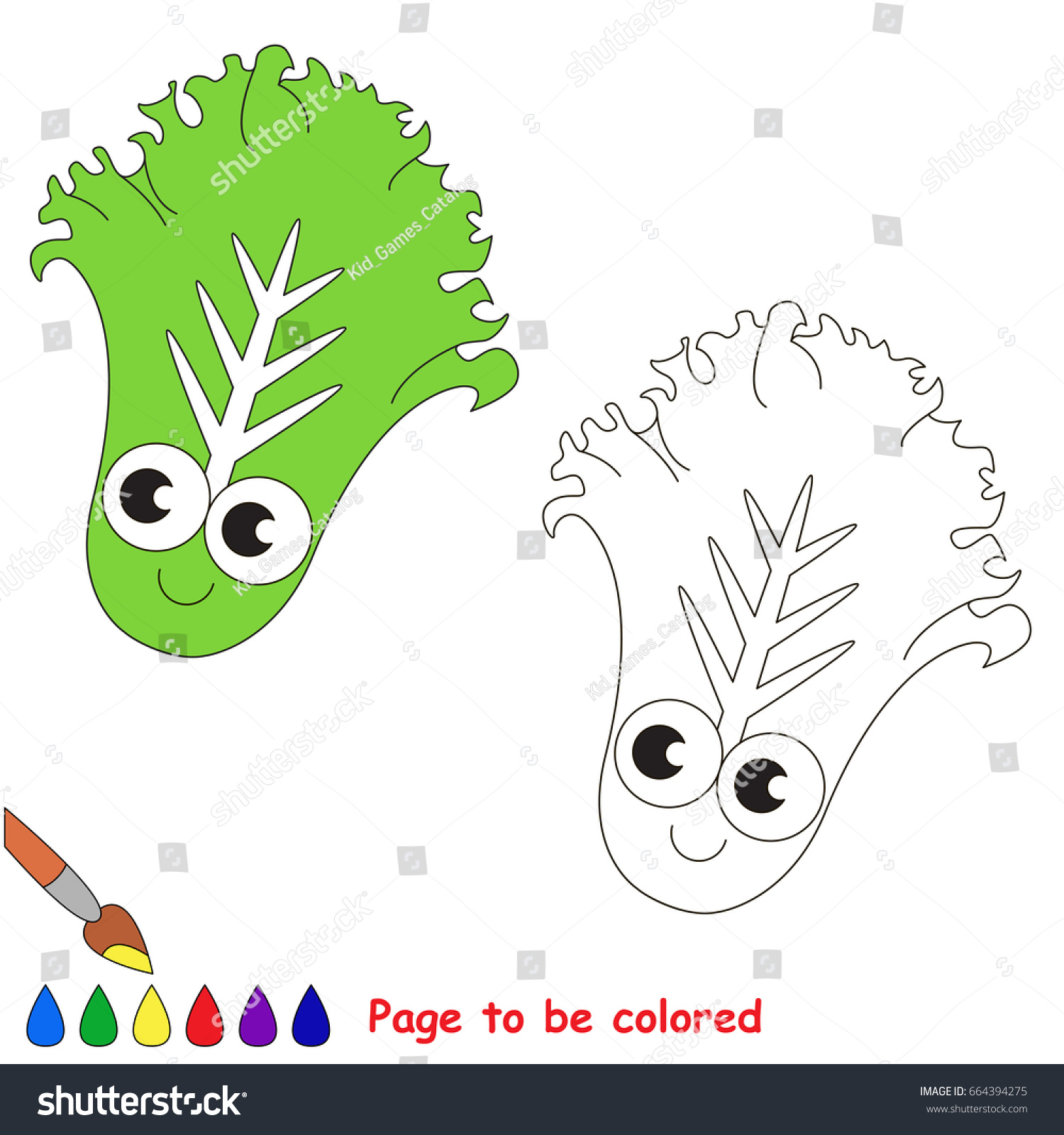 Picture Be Colored Coloring Book Preschool Stock Vector 664394275 ...