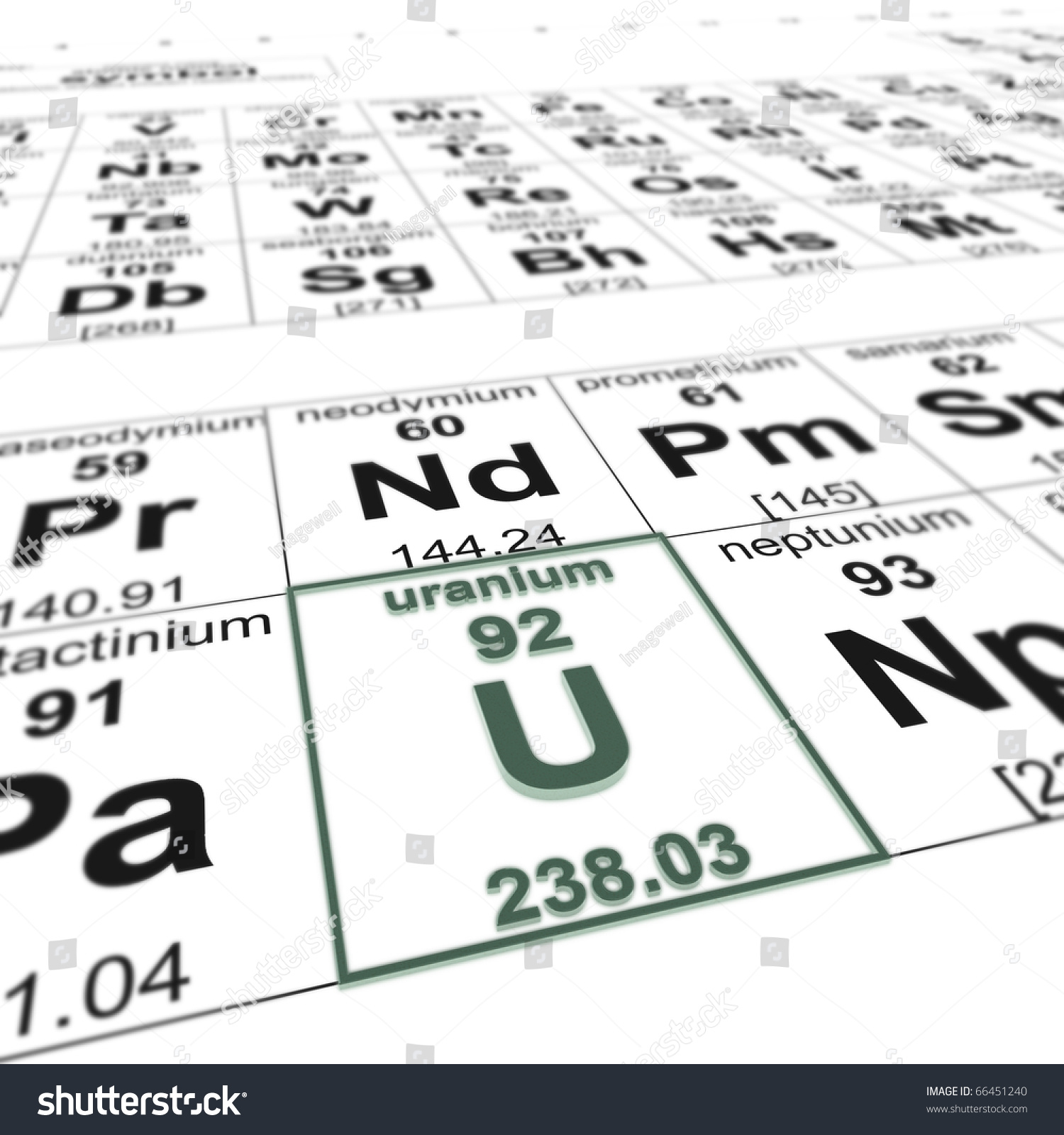Periodic table elements focused on uranium stock illustration periodic table of elements focused on uranium gamestrikefo Image collections
