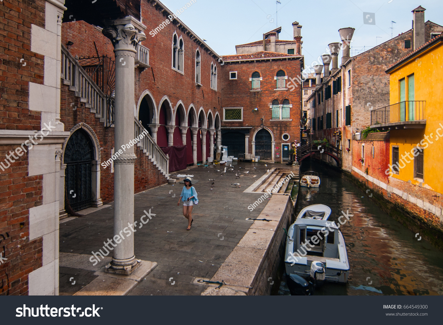 Small Canals In Venice Italian Venezia Venetian Venexia Is A City Northern Italy Known Both For Tourism And Industry The Capital Of