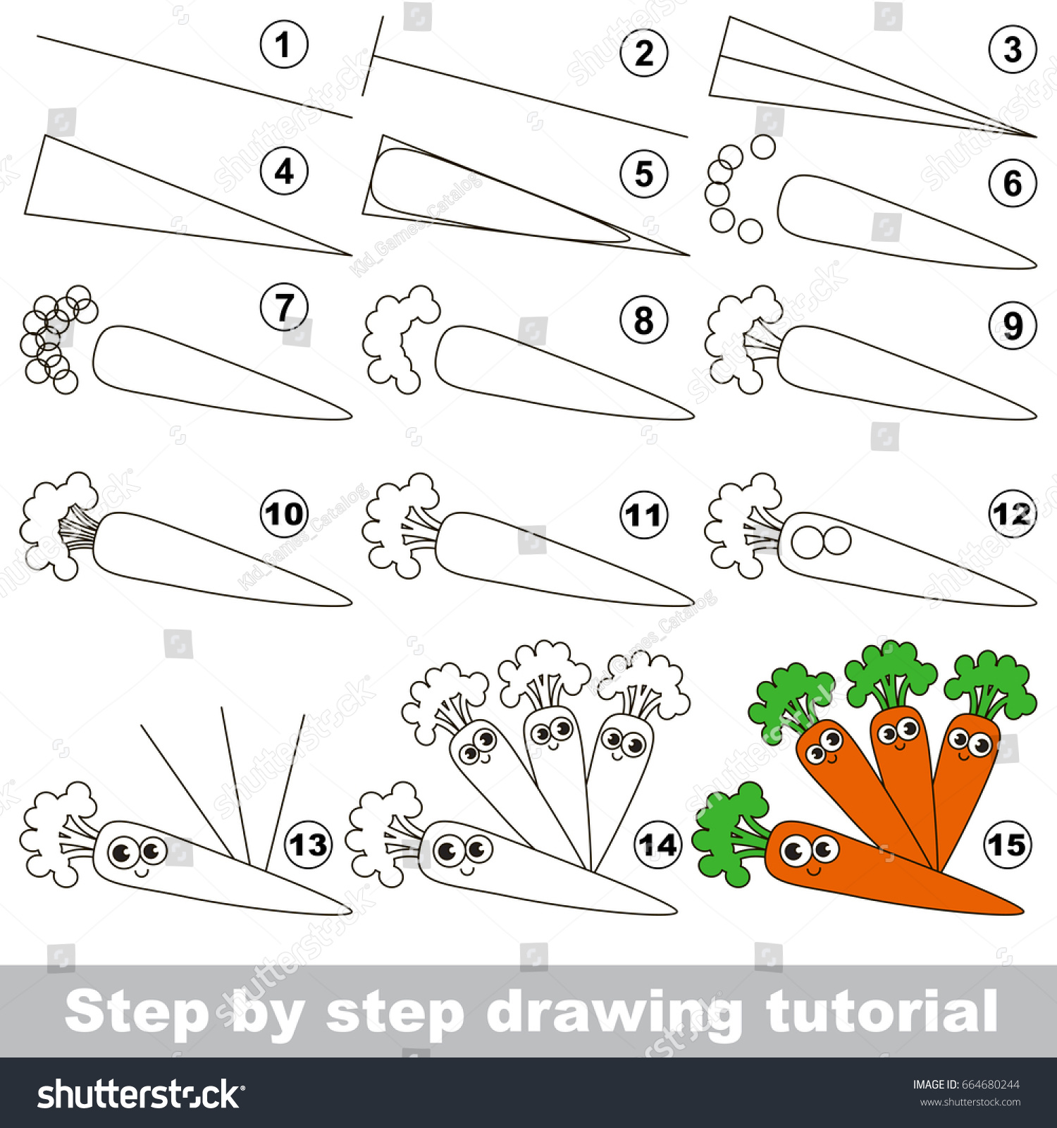 Kid Game Develop Drawing Skill Easy Stock Vector 664680244