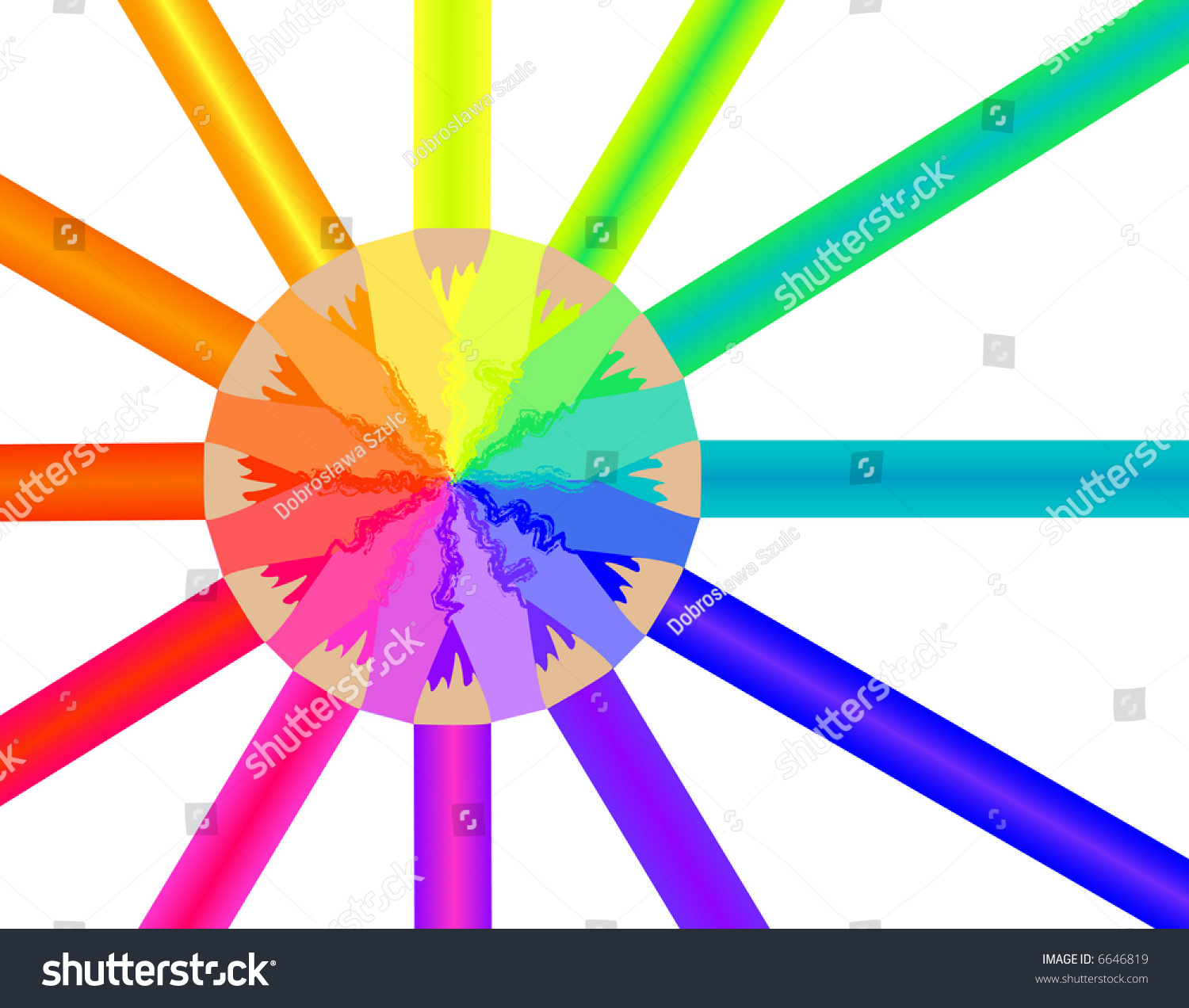 color wheel colorful crayons stock illustration royalty free stock