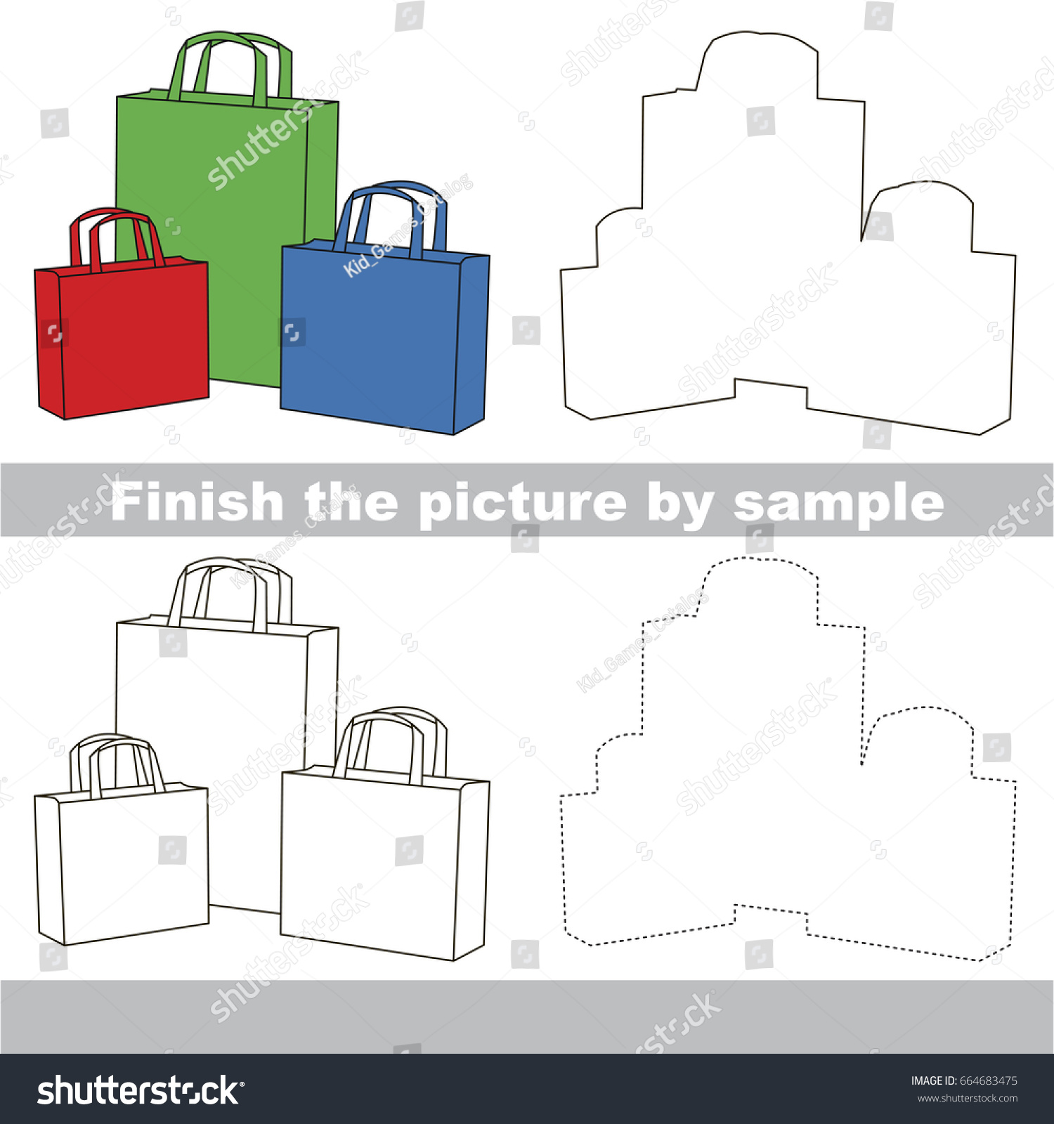 drawing worksheet preschool kids easy gaming stock vector 664683475 shutterstock. Black Bedroom Furniture Sets. Home Design Ideas