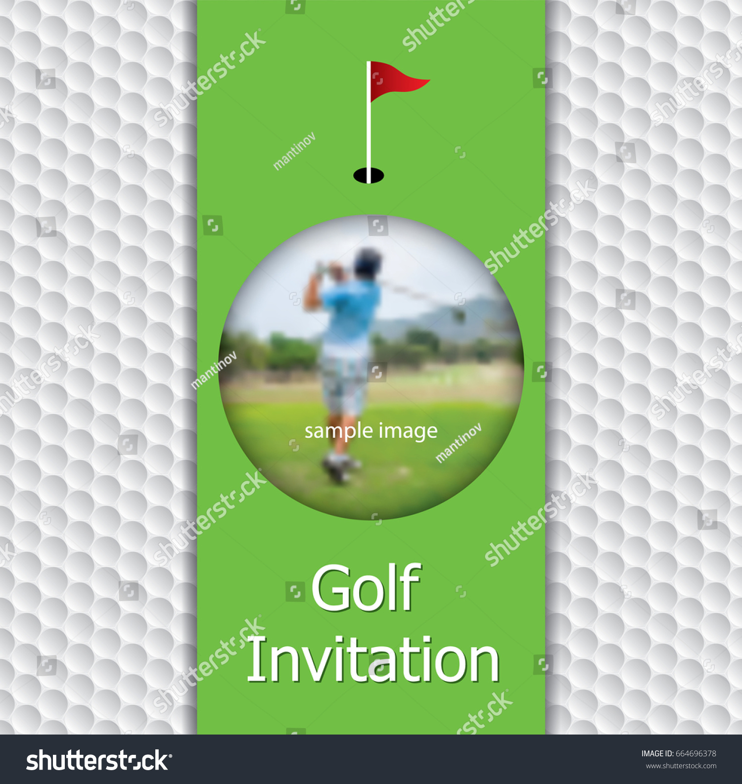 Golf tournament invitation flyer template graphic stock vector golf tournament invitation flyer template graphic design on golf ball pattern texture with sample image stopboris Images