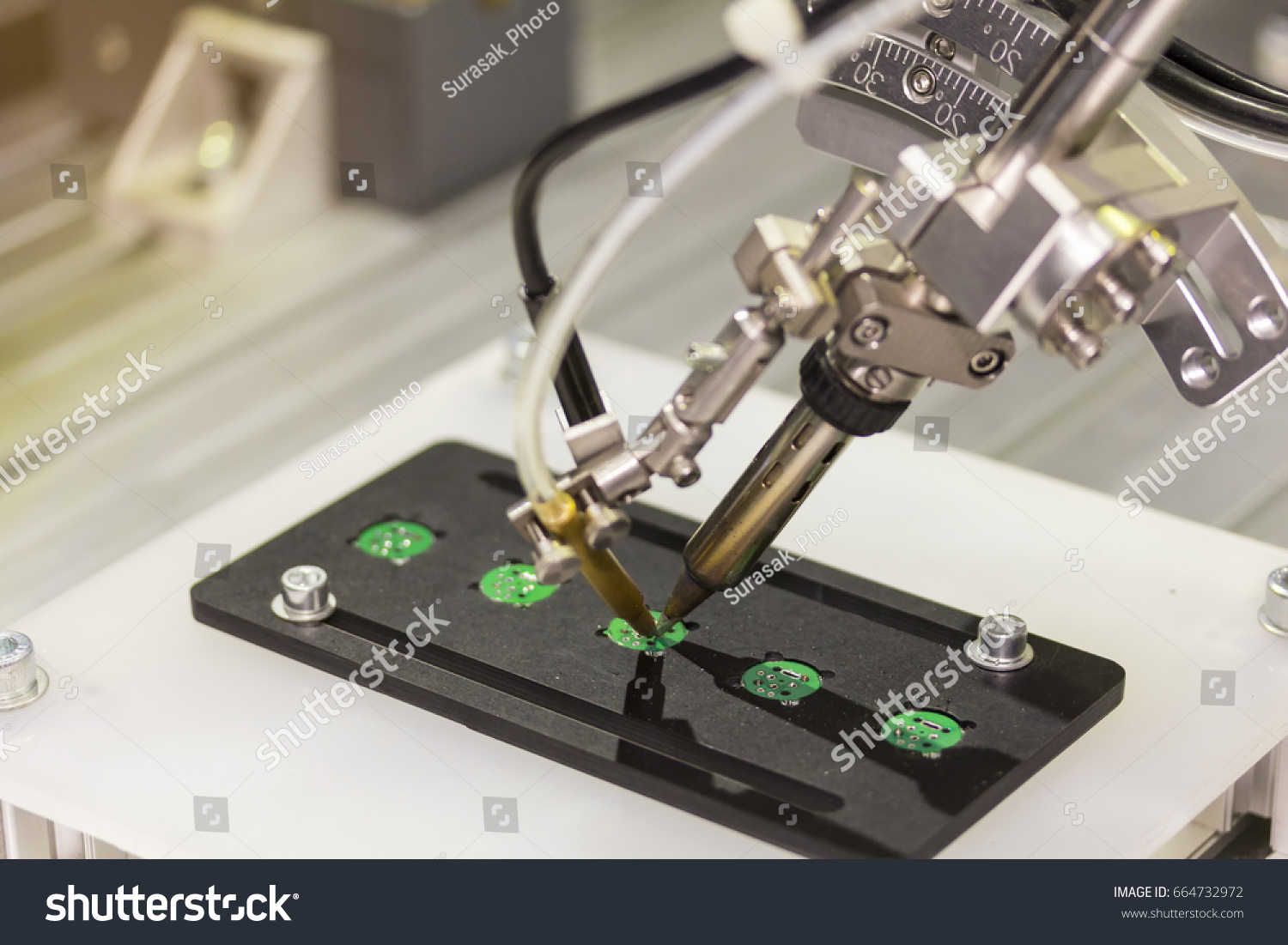 Automation Robot Point Soldering Assembly Electric Stock Photo Edit Electronic Circuit Boards Royalty Free Image For Board Pcb At Factory