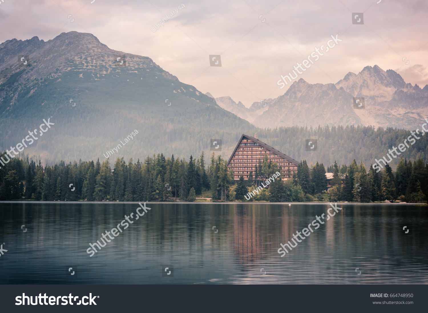 Great Wallpaper Mountain Vintage - stock-photo-beautiful-landscape-vintage-image-for-wallpaper-mountains-and-water-lake-strbske-pleso-famous-664748950  Pictures_85948.jpg