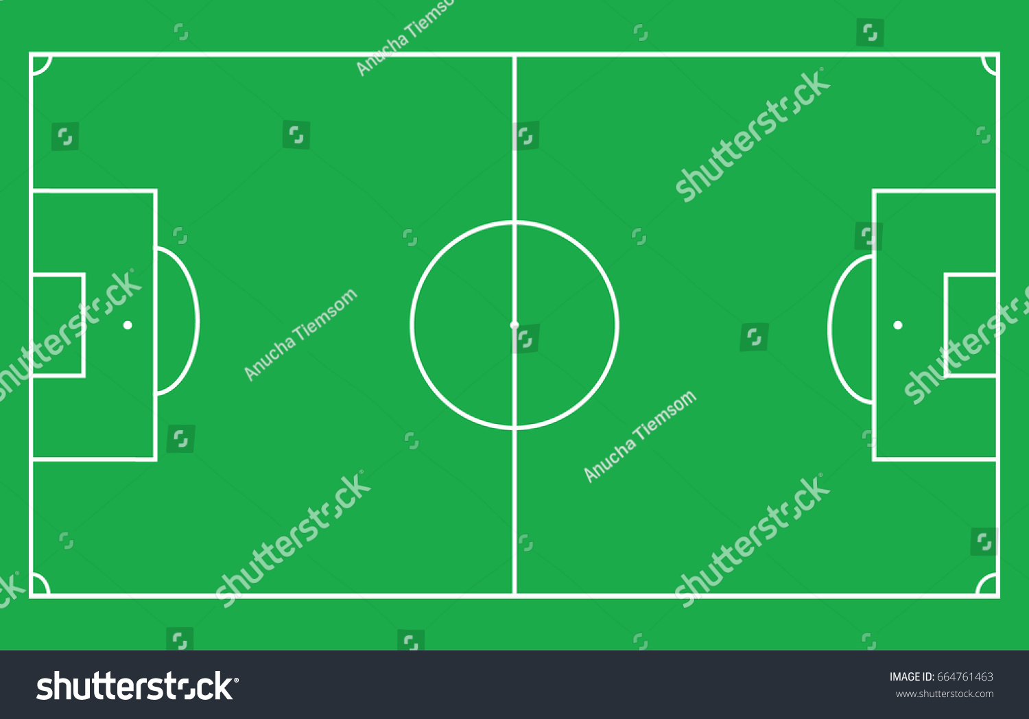Flat green field football grass soccer field with line template id 664761463 maxwellsz
