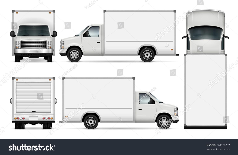 van template car branding advertising isolated stock vector 664779037 shutterstock. Black Bedroom Furniture Sets. Home Design Ideas