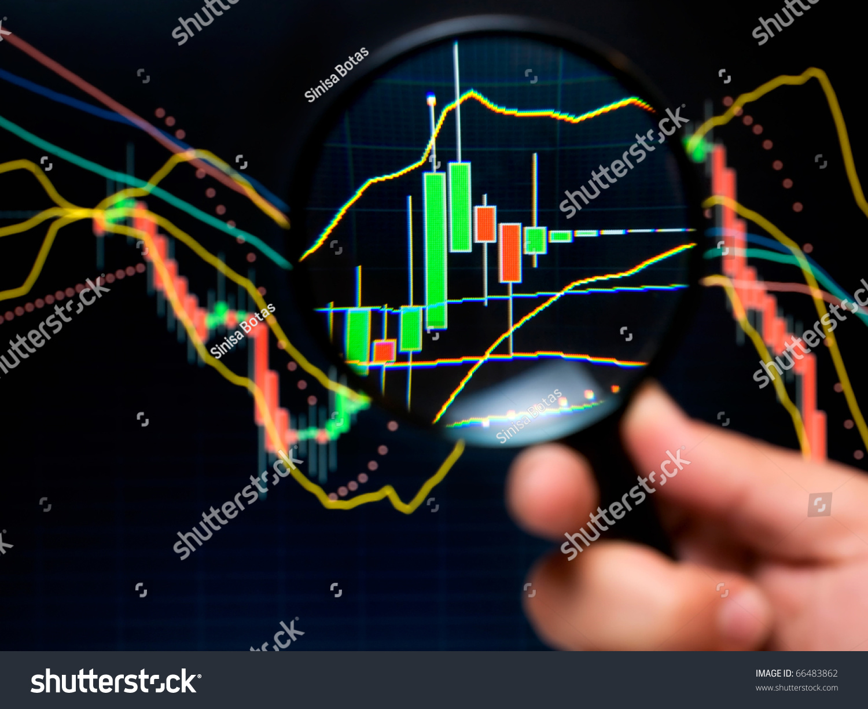 Magnifier Graph Basic Tools Technical Analysis Photo – Stock Market Analysis