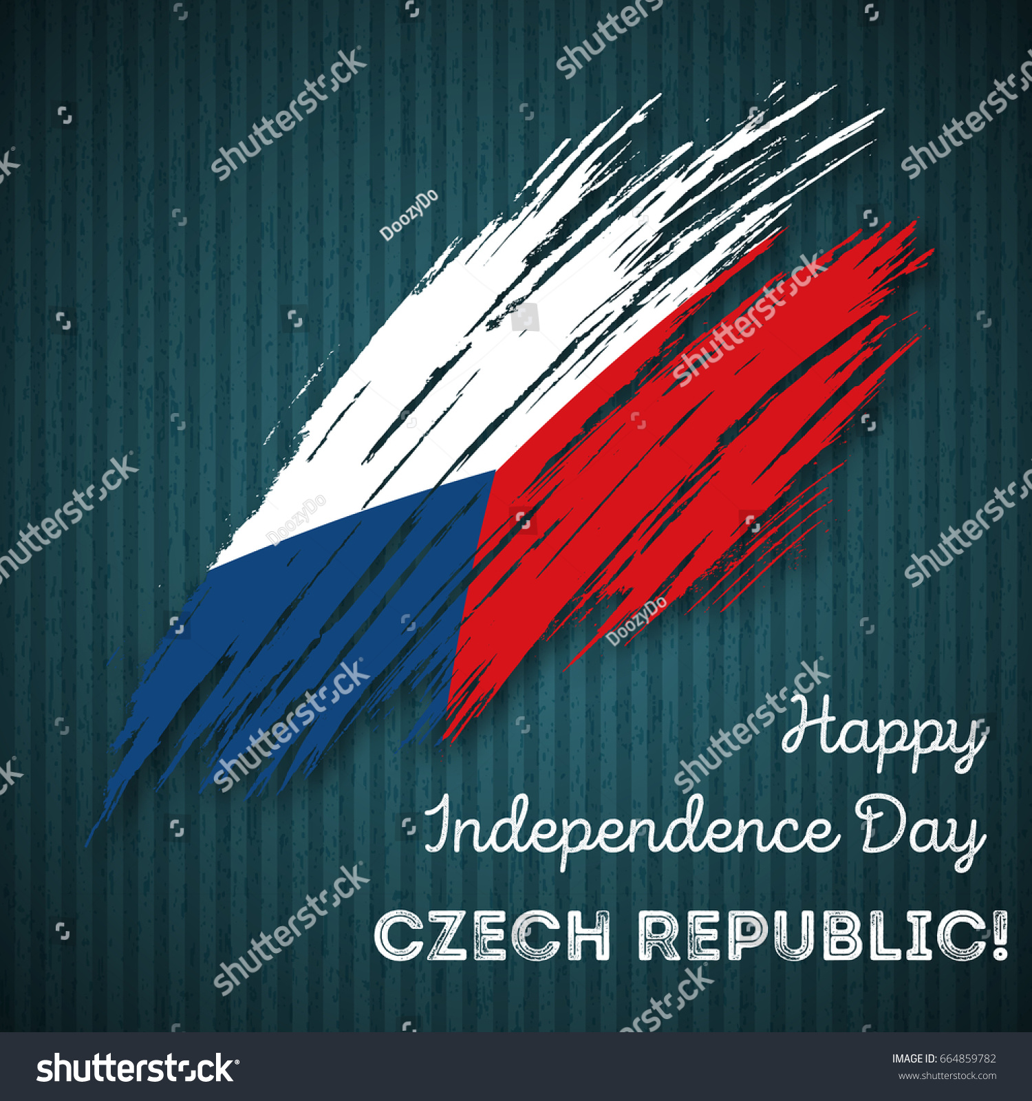 Czech Republic Independence Day Patriotic Design Stock Vector Hd