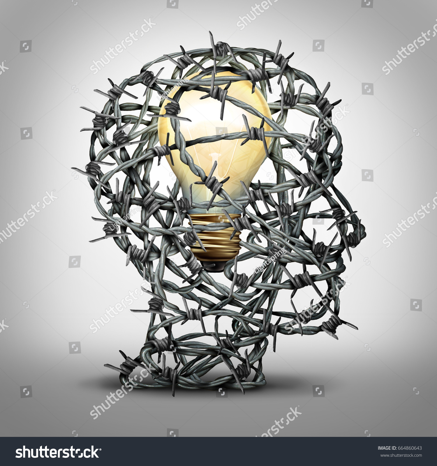 Protect Your Idea Business Thinking Concept Stock Illustration ...