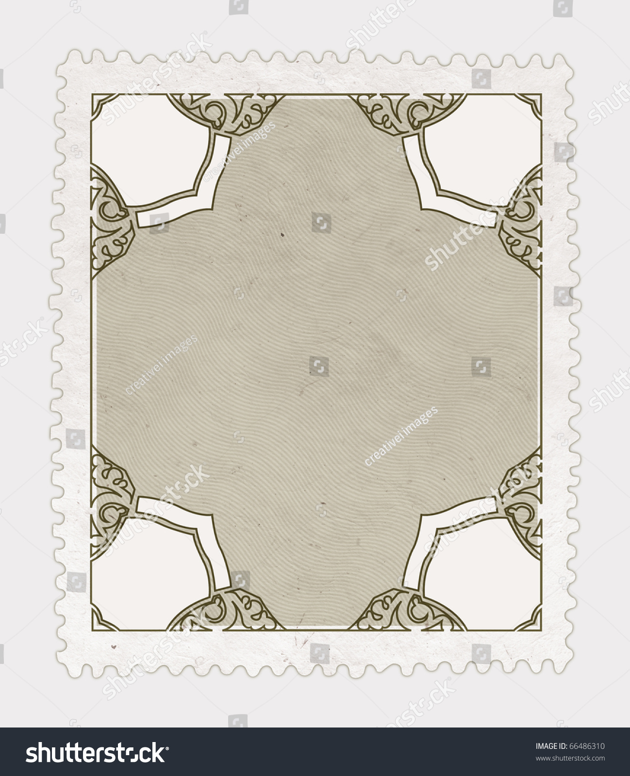 Vintage Stamp On White Isolated Background Stock