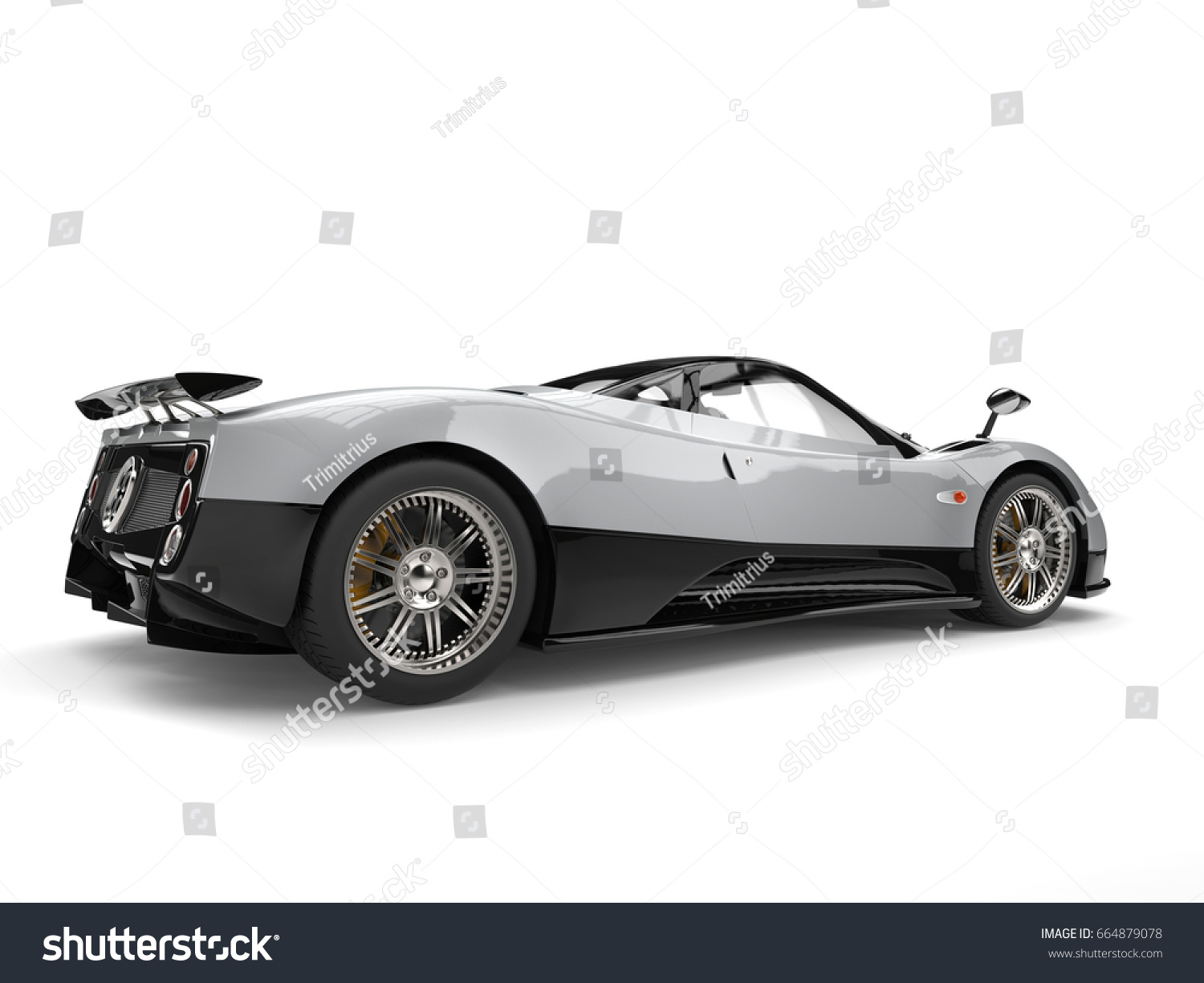 Luxury Modern Sports Car Silver Black Stock Illustration - Modern sports cars