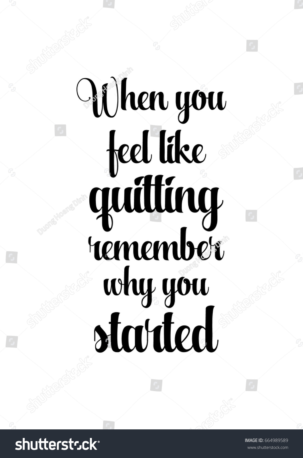 Quotes Motivation Lettering Quotes Motivation About Life Quote Stock Vector