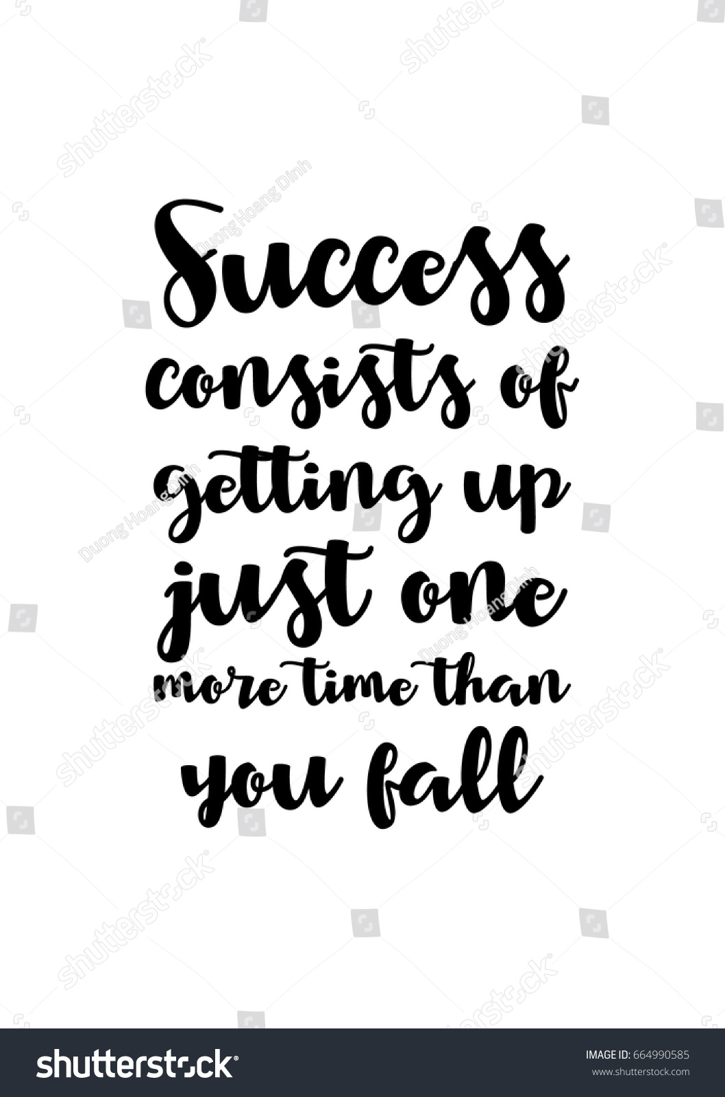 Inspirational Quotes About Success Lettering Quotes Motivation About Life Quote Stock Vector