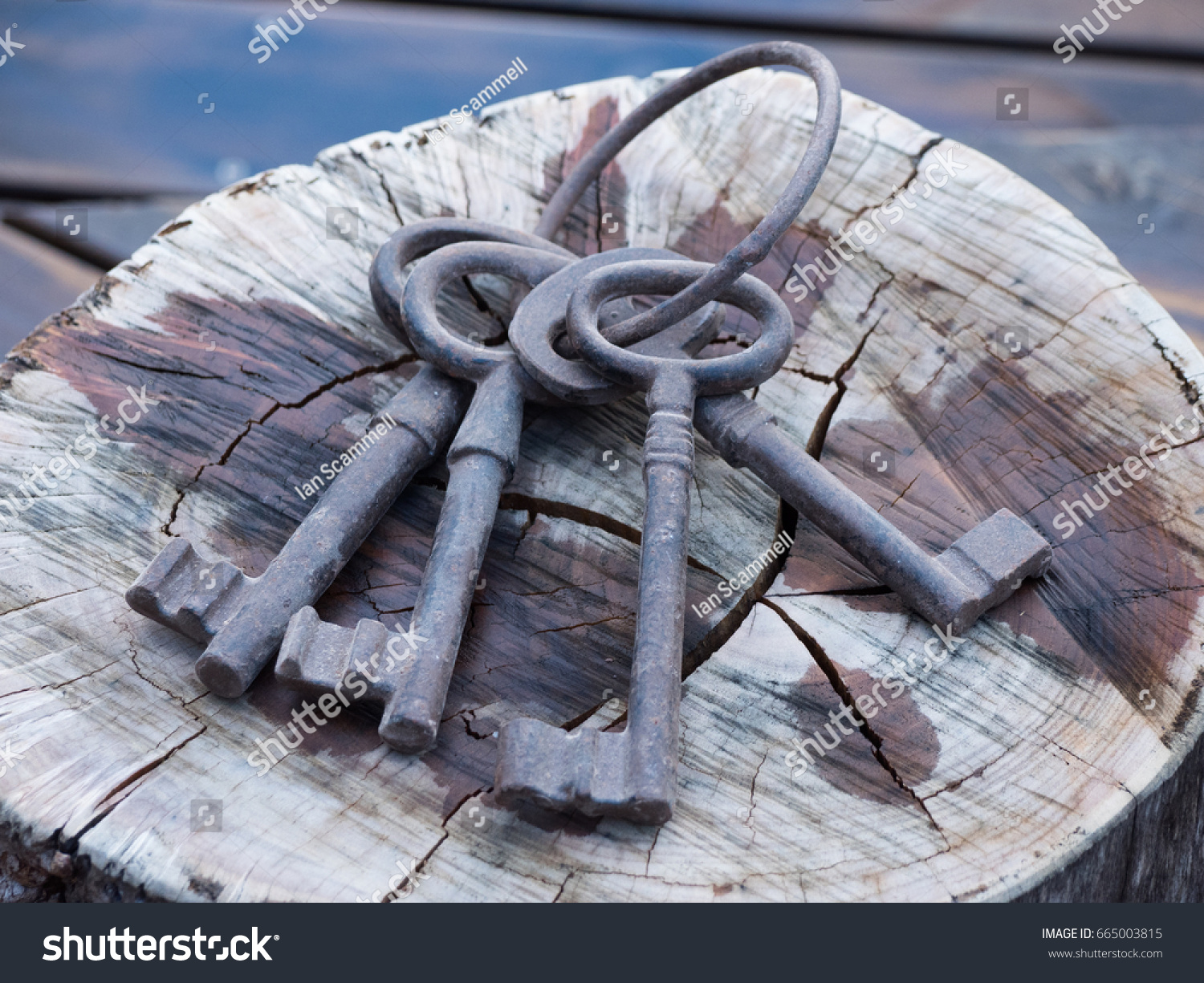 Large antique keys #665003815