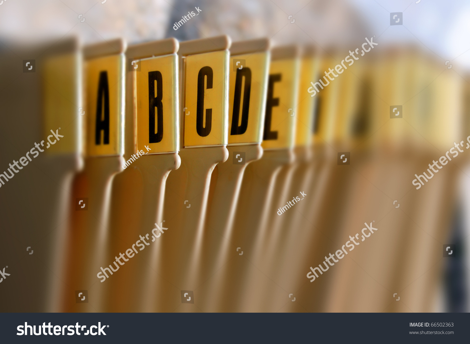 Alphabetical Filing Tray Index Office Documents Stock Photo ...