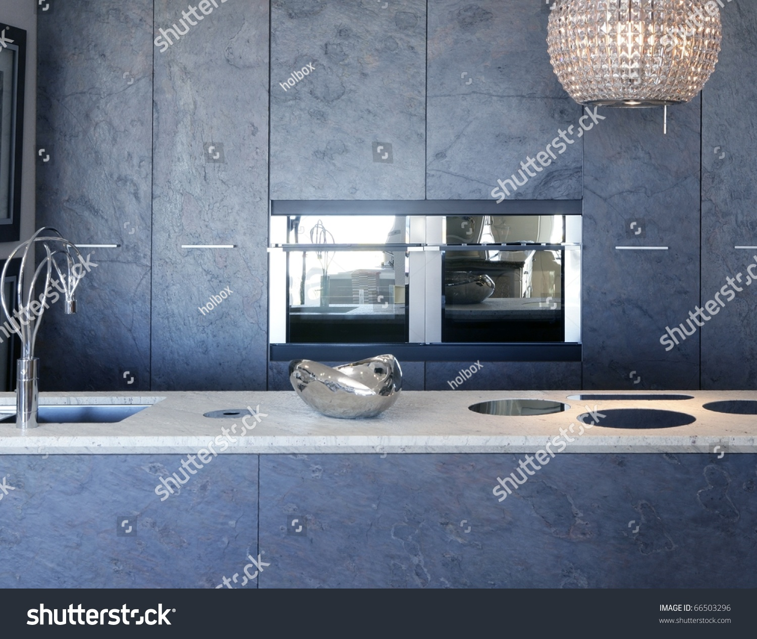 Slate Stone Kitchen Furniture Marble Bench Integrated