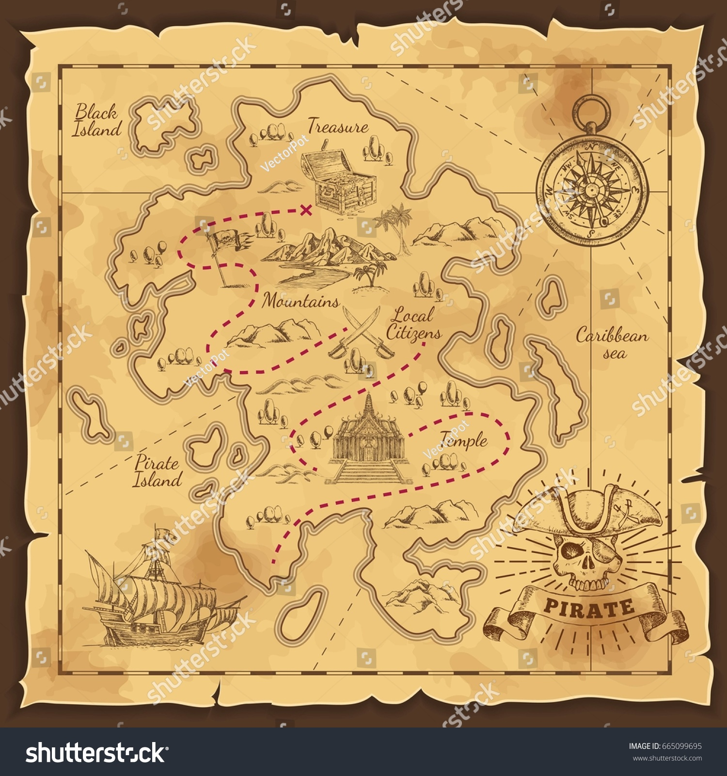 Как сделать карту для поиска клада для детей