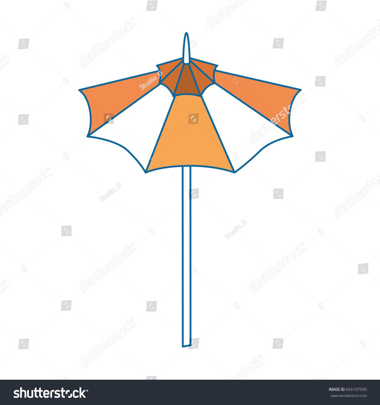 isolated cute umbrella stock vector 665107930 shutterstock