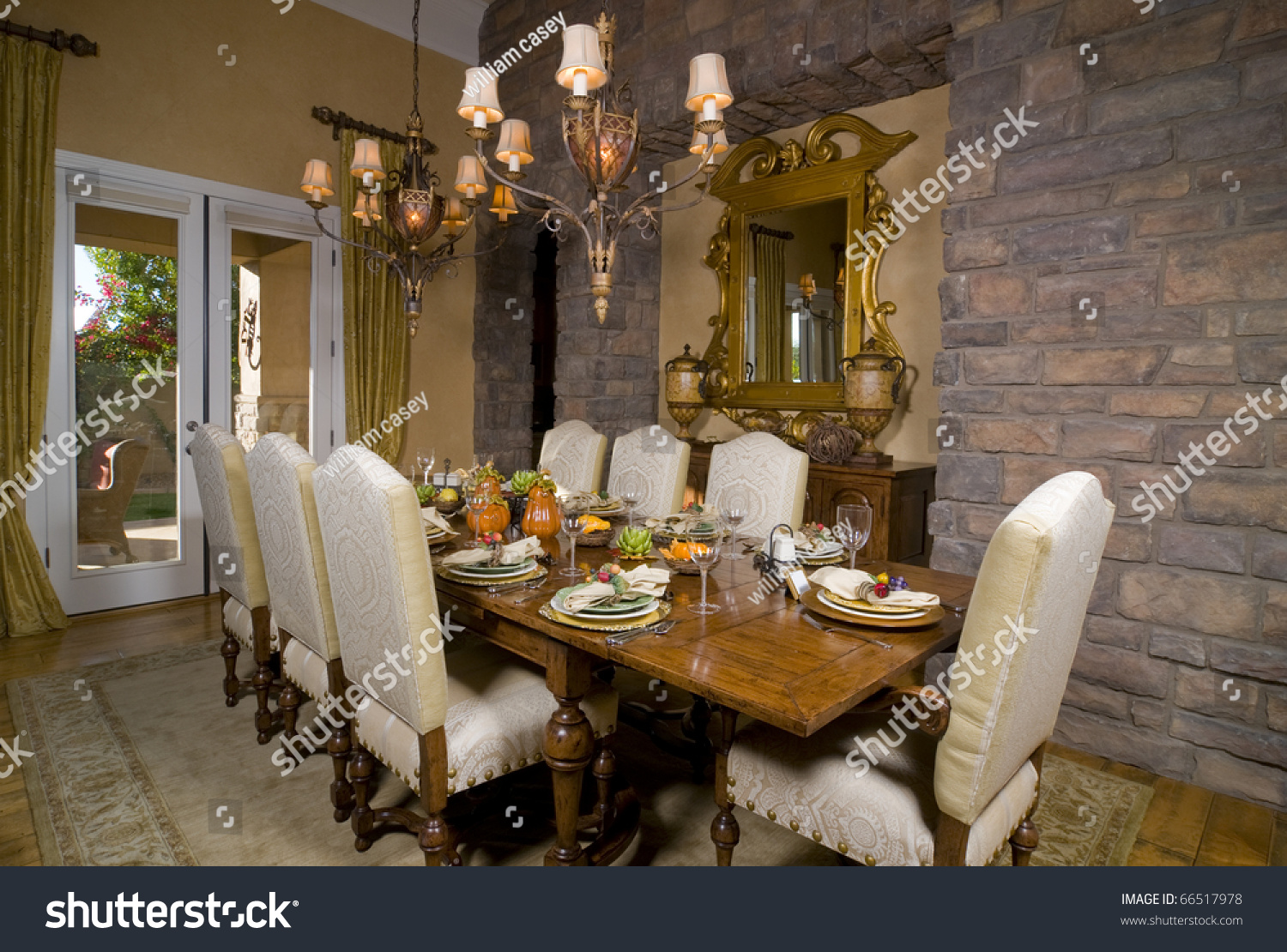 Formal Dining Room Table Set For Dinner Stock Photo 66517978 . Full resolution  photo, nominally Width 1500 Height 1110 pixels, photo with #A06A2B.