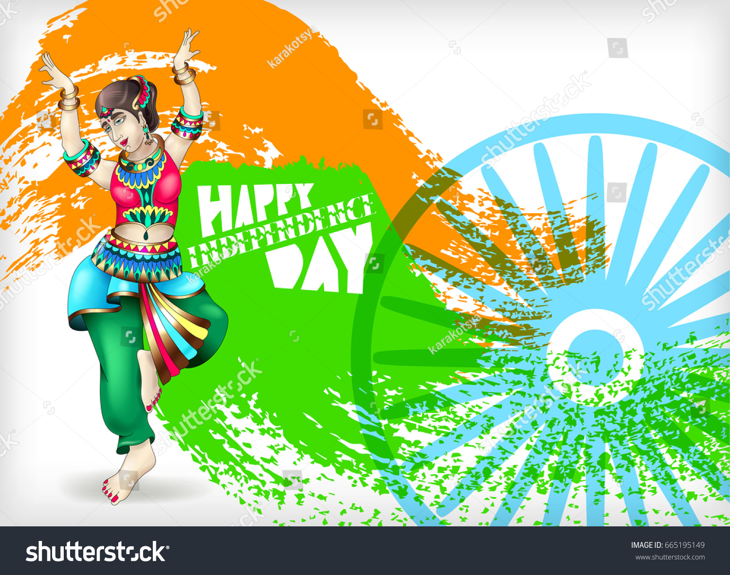 Happy Independence Day India Greeting Card Stock Illustration