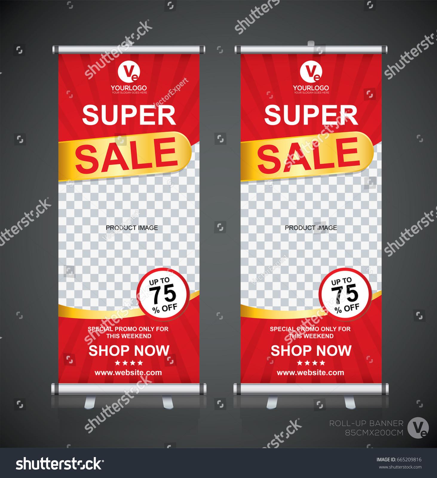 Roll Big Sale Banner Brochure Flyer Stock Vector 665209816
