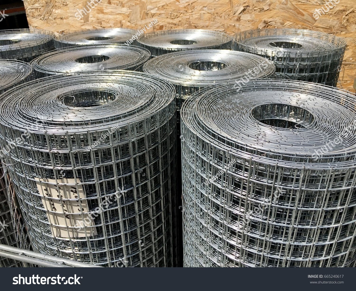 Galvanized Welded Wire Mesh Twisted Into Stock Photo (Download Now ...