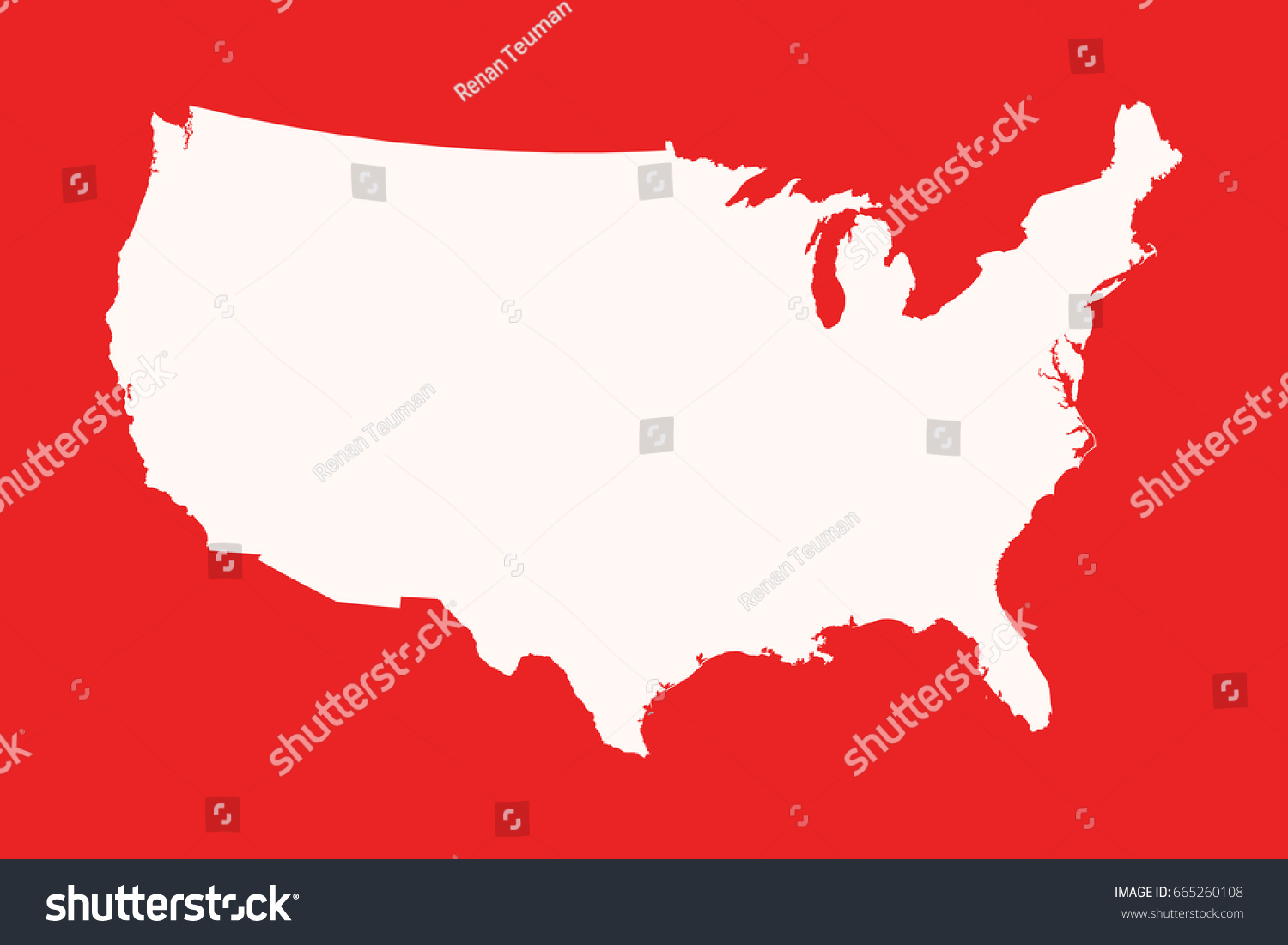 Usa Map Silhouette Stock Vector Shutterstock - Pictures of usa map