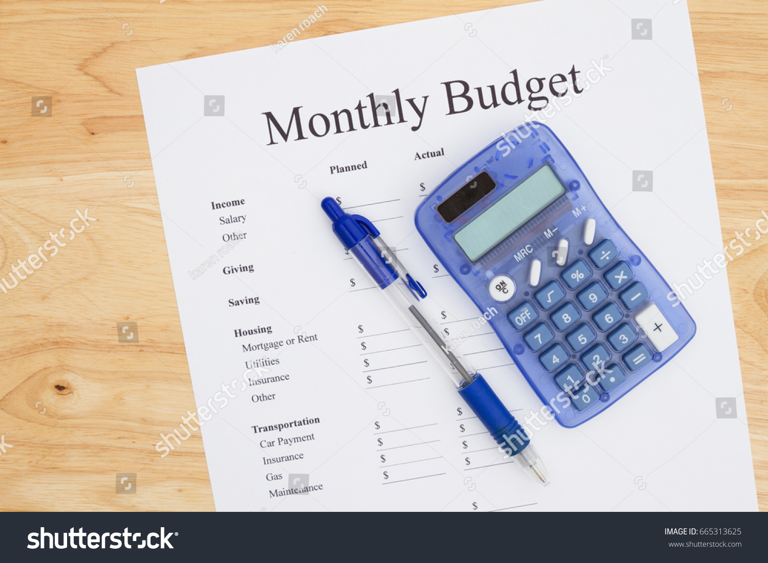 creating monthly budget print out monthly stock photo edit now