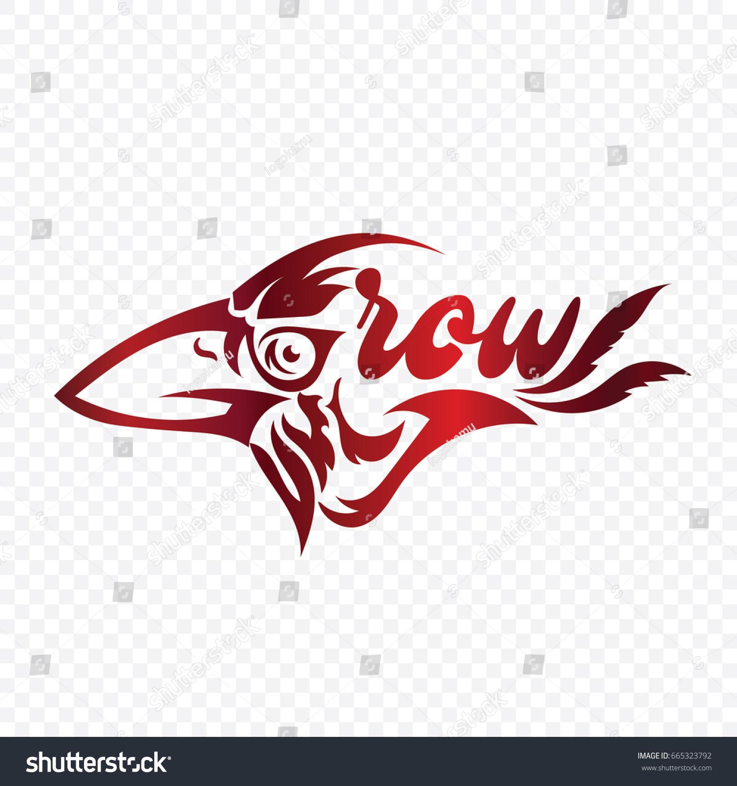 Crow logo vector stock vector 665323792 shutterstock crow logo vector sciox Choice Image