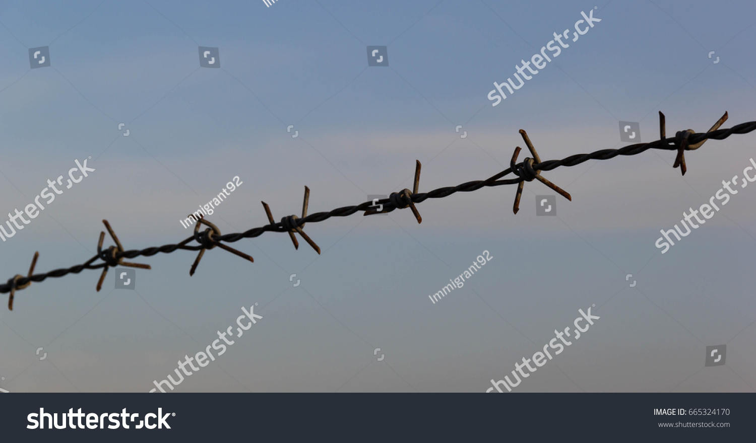 Rusty Barbed Wire Sky Background Stock Photo (Royalty Free ...