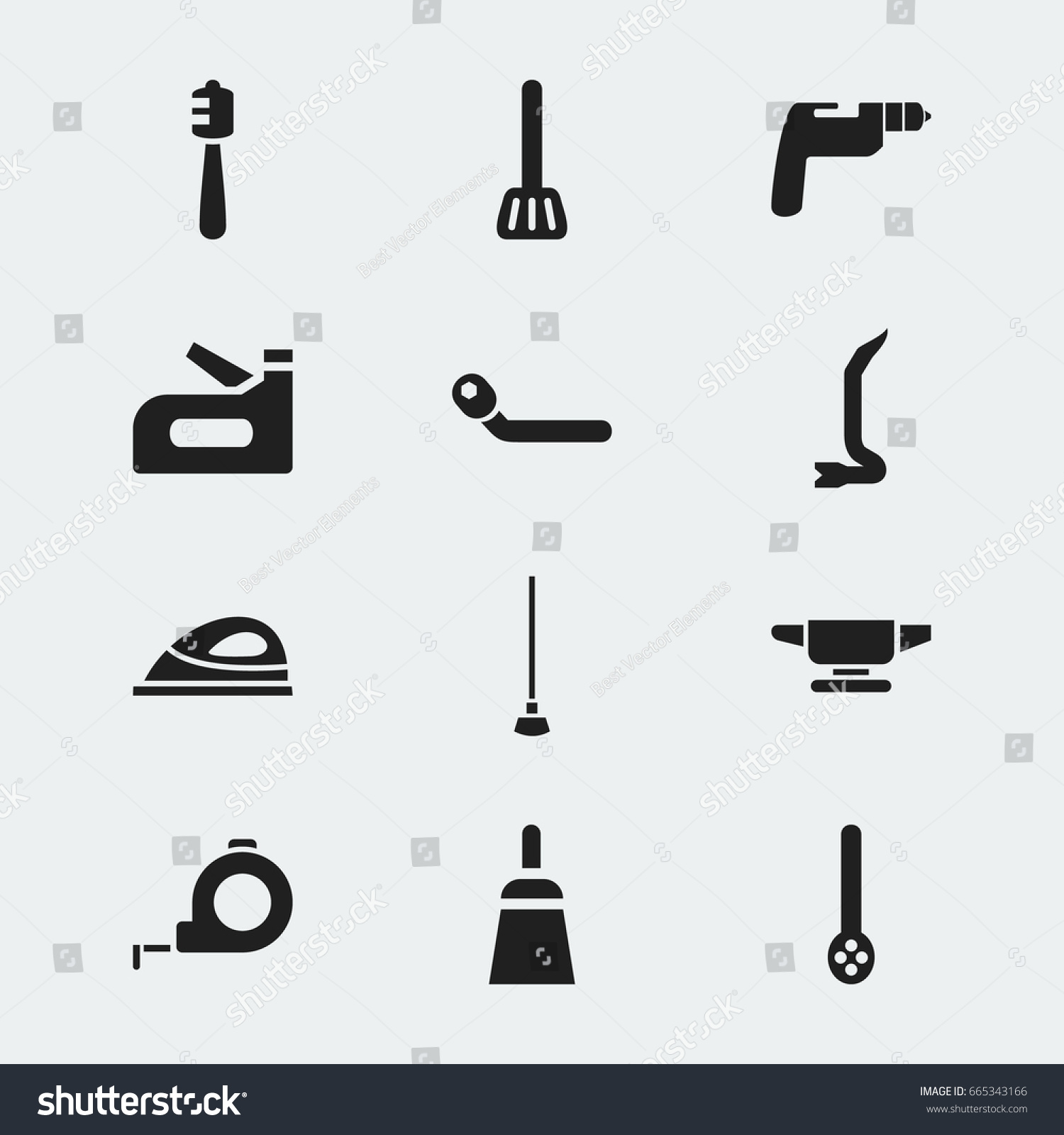 Set 12 editable apparatus icons includes stock vector 665343166 set of 12 editable apparatus icons includes symbols such as skimmer circle spanner buycottarizona Images