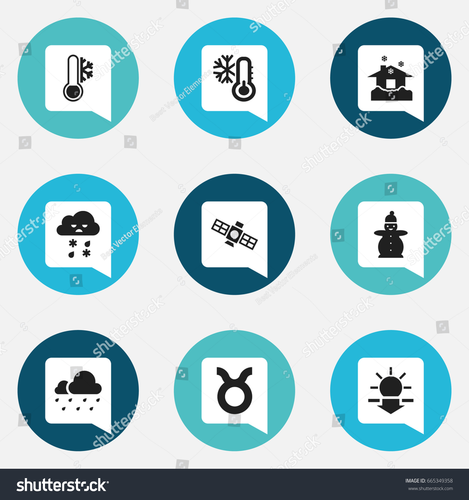 Set 9 editable air icons includes stock vector 665349358 includes symbols such as frosty bull frost buycottarizona Images