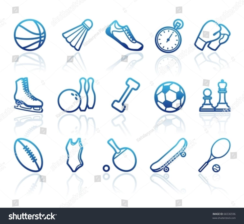 Sports Symbols Stock Vector Royalty Free 66536596 Shutterstock