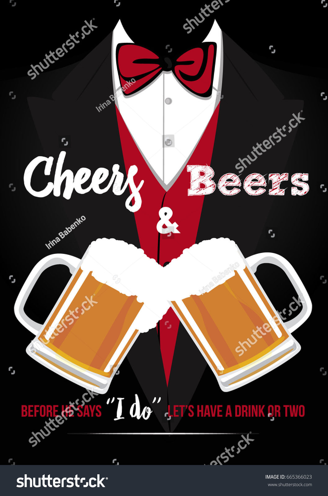 Bachelor Party Invitation Card Stock Vector (Royalty Free) 665366023 ...