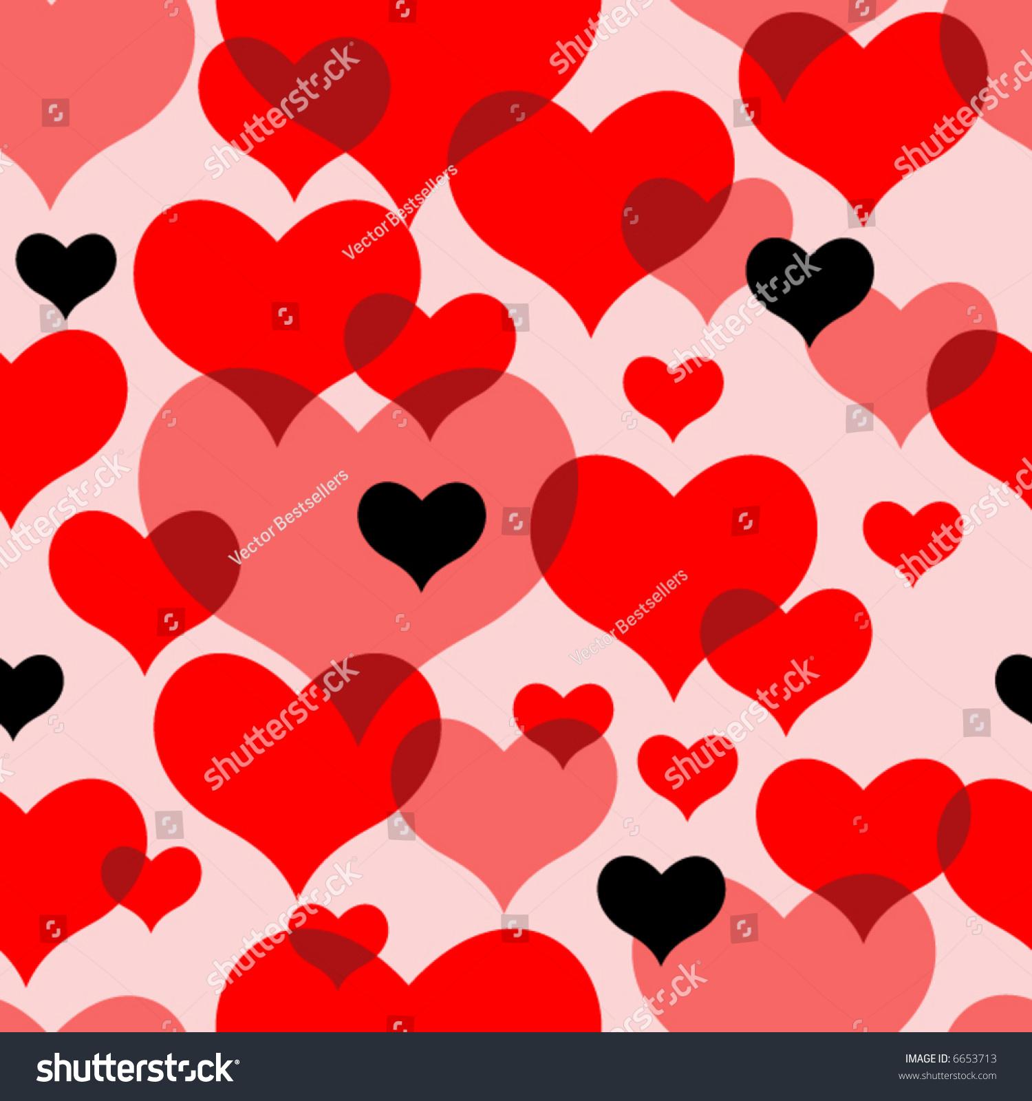 seamless vector texture hearts you can stock vector