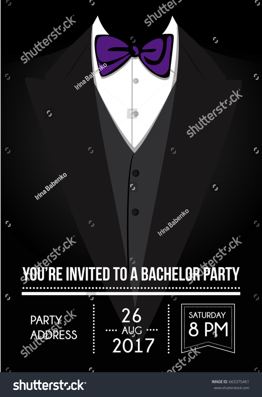 Bachelor party invitation card stock vector 665375461 shutterstock bachelor party invitation card monicamarmolfo Choice Image