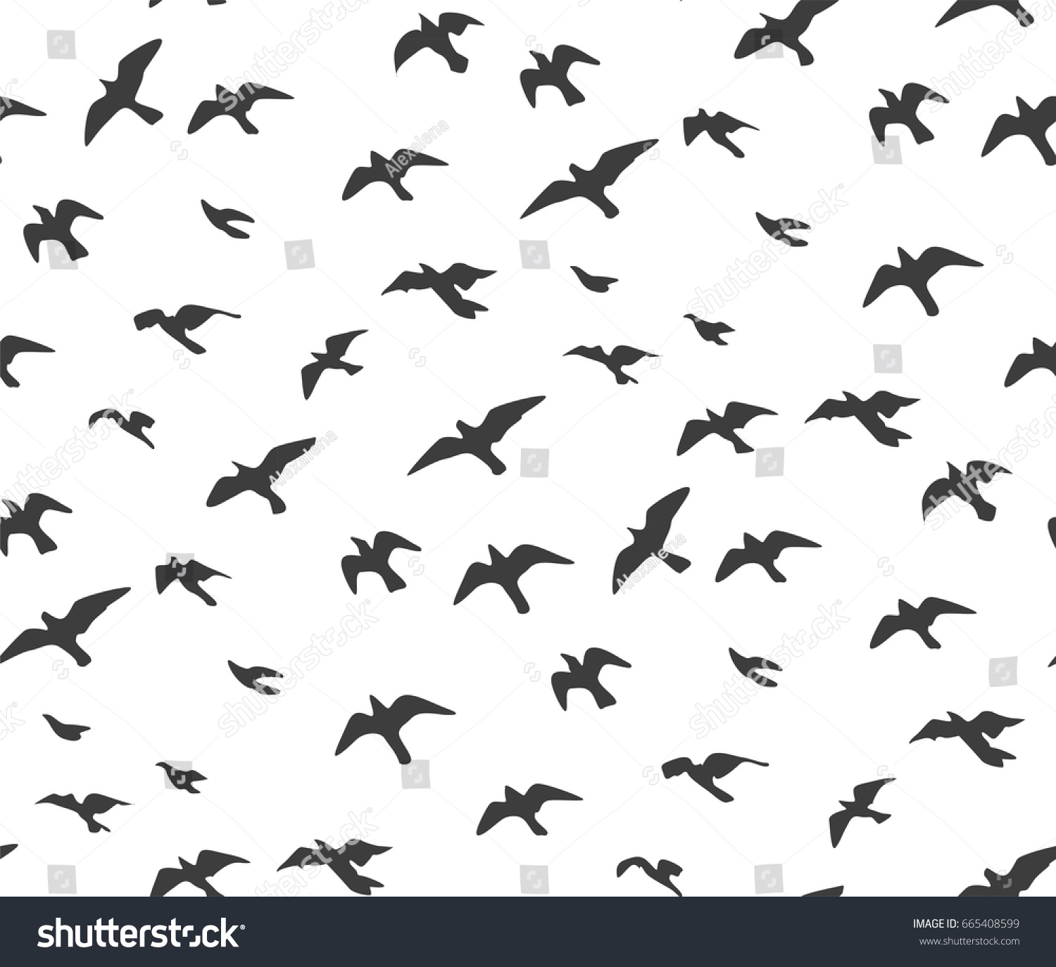 Set of sketches of flying swallows stock vector illustration -  Vectors Illustrations Footage Music A Flock Of Flying Birds Gray Silhouette Dove Seagull Sketch Set Abstract Bird