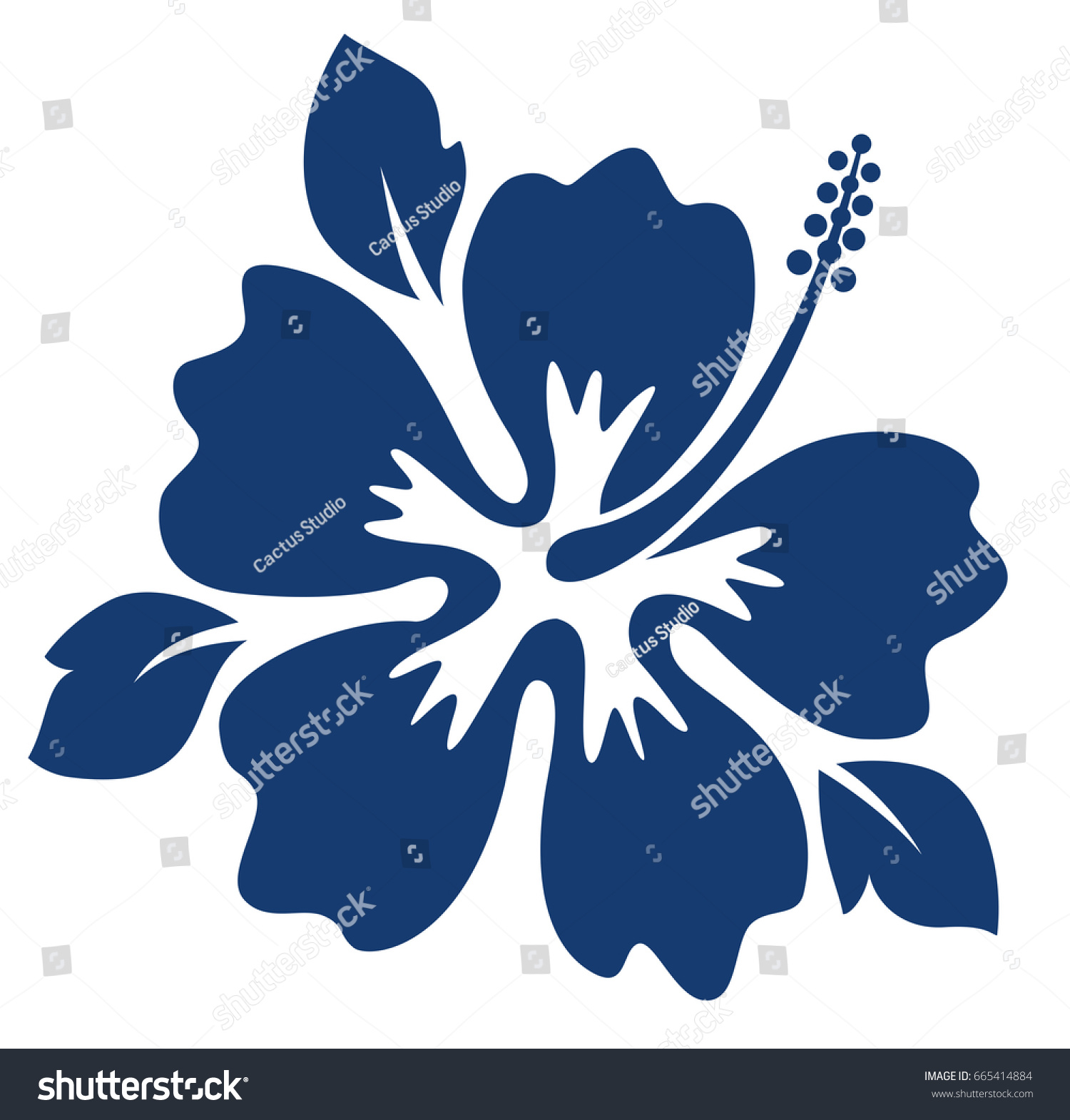 Dark blue hibiscus flower editable vector stock vector royalty free dark blue hibiscus flower editable vector illustration izmirmasajfo