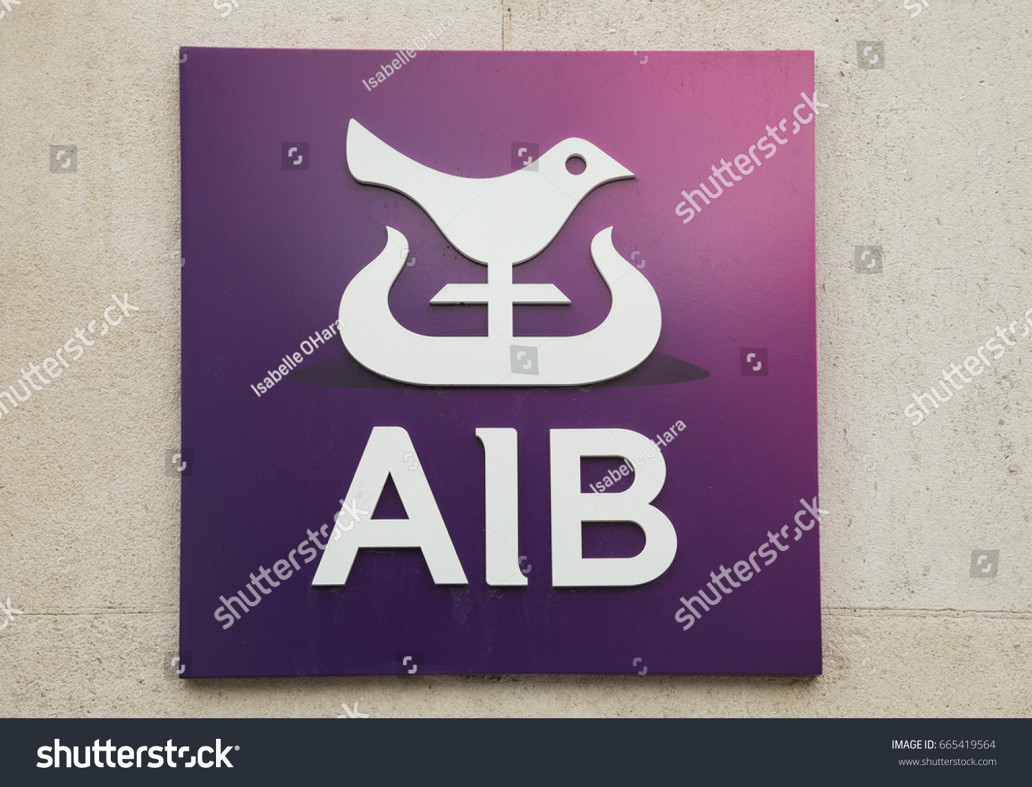 Dublin ireland june 2 2017 allied stock photo 665419564 shutterstock dublin ireland june 2 2017 allied irish banks aib logo xflitez Choice Image