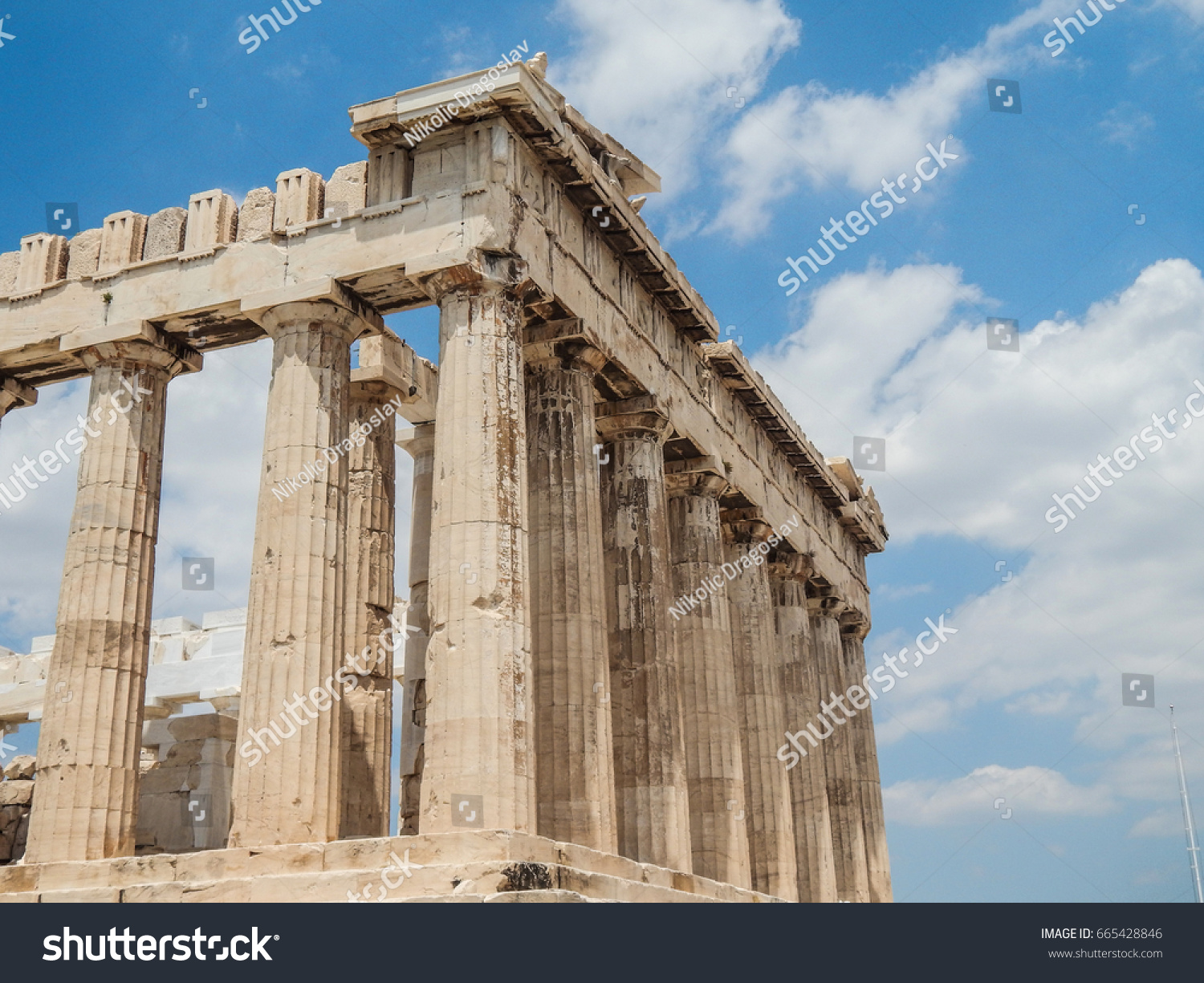 Athens Greece June 26 2014 Antique Architectural And Historical
