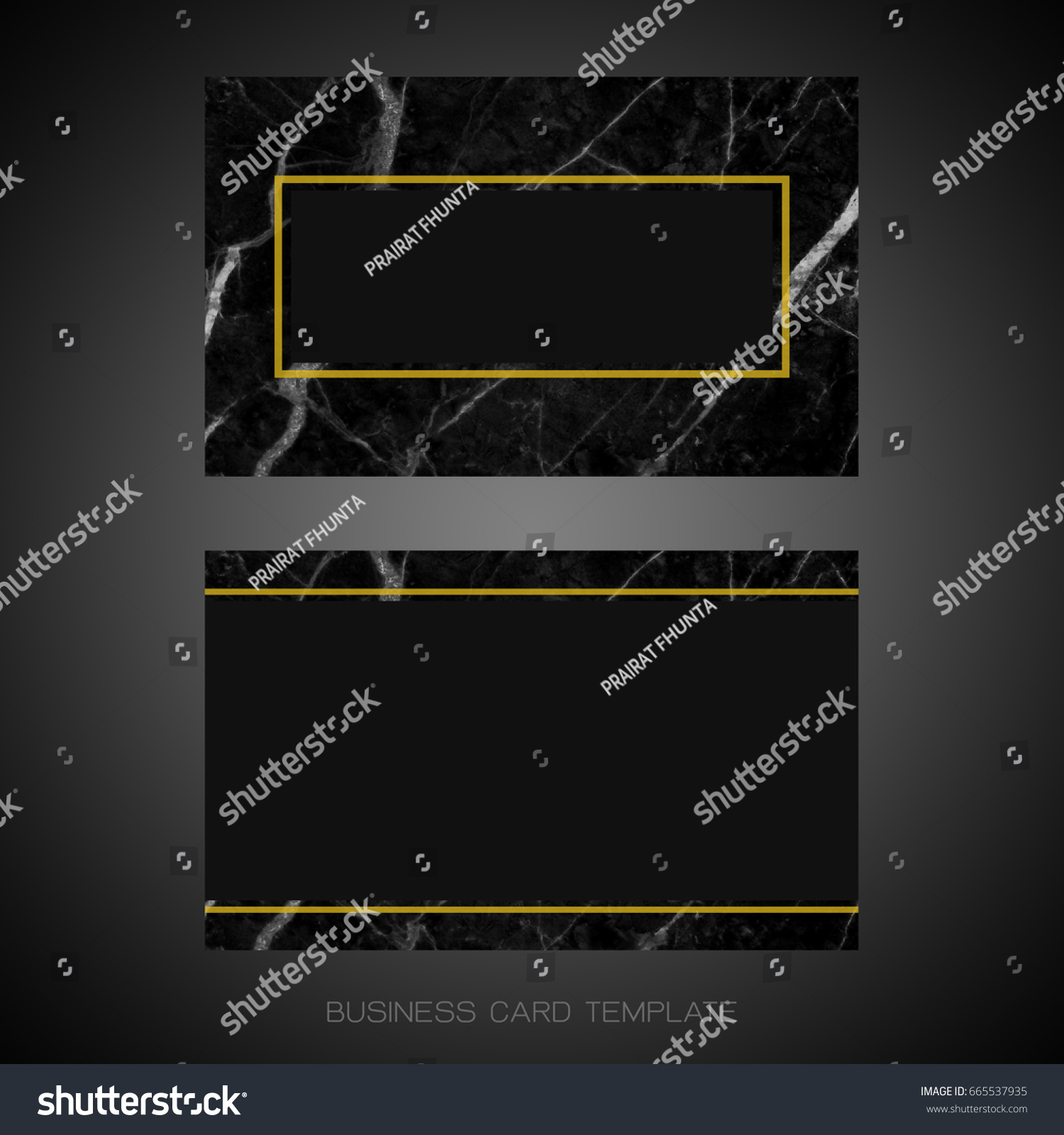 black gold marble designer business card stock illustration