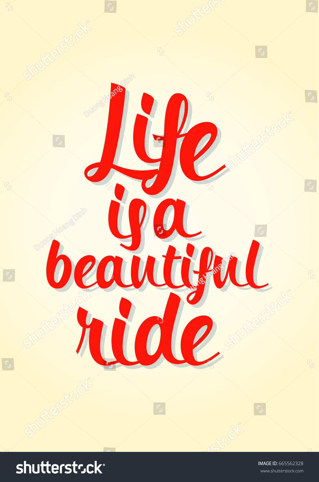 Poster Quotes About Life Lettering Quotes Motivation About Life Quote Stock Vector