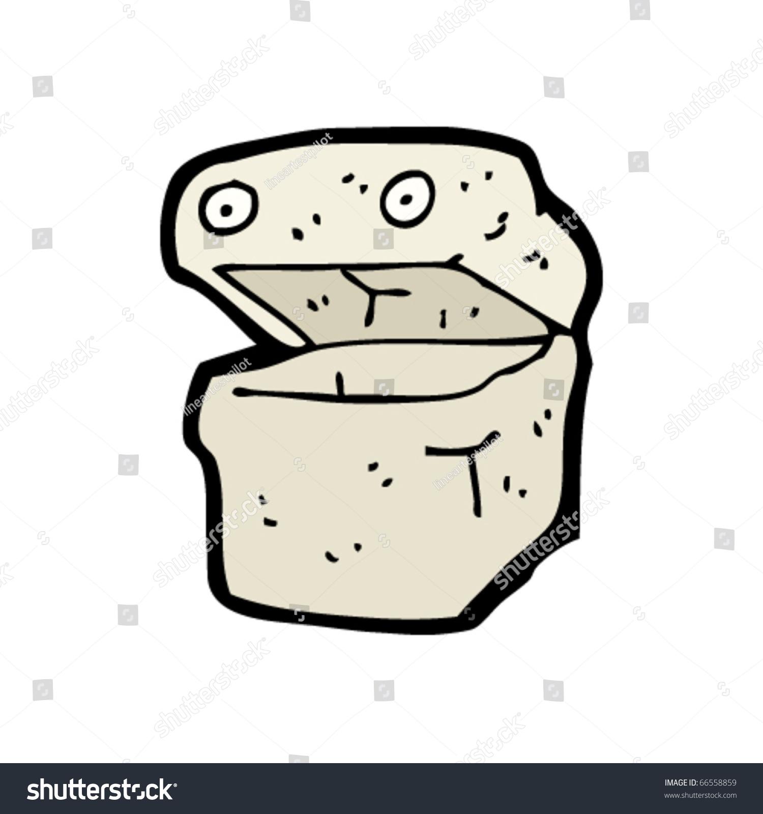 Happy Food Container Cartoon Stock Vector 66558859 - Shutterstock
